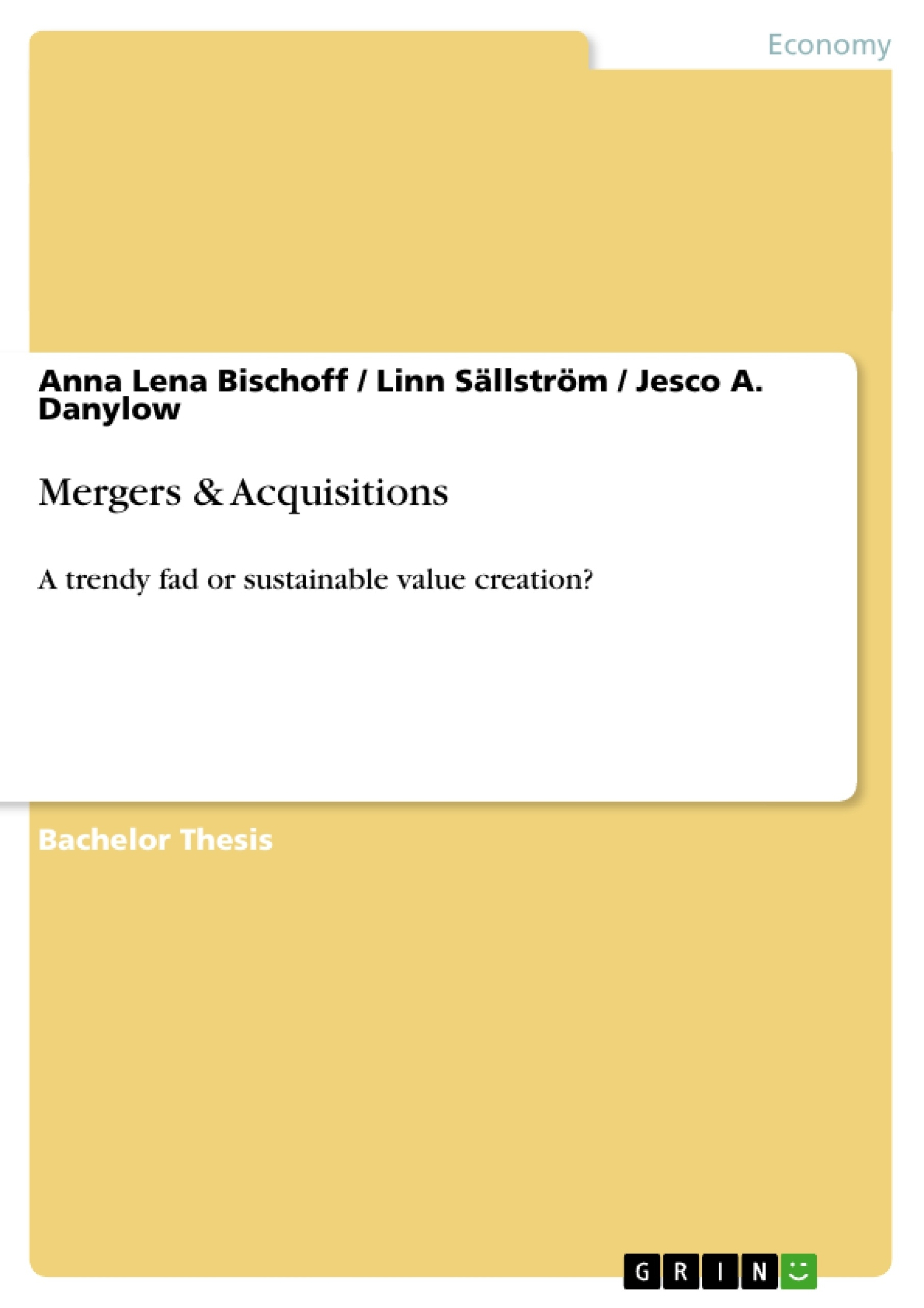 Title: Mergers & Acquisitions