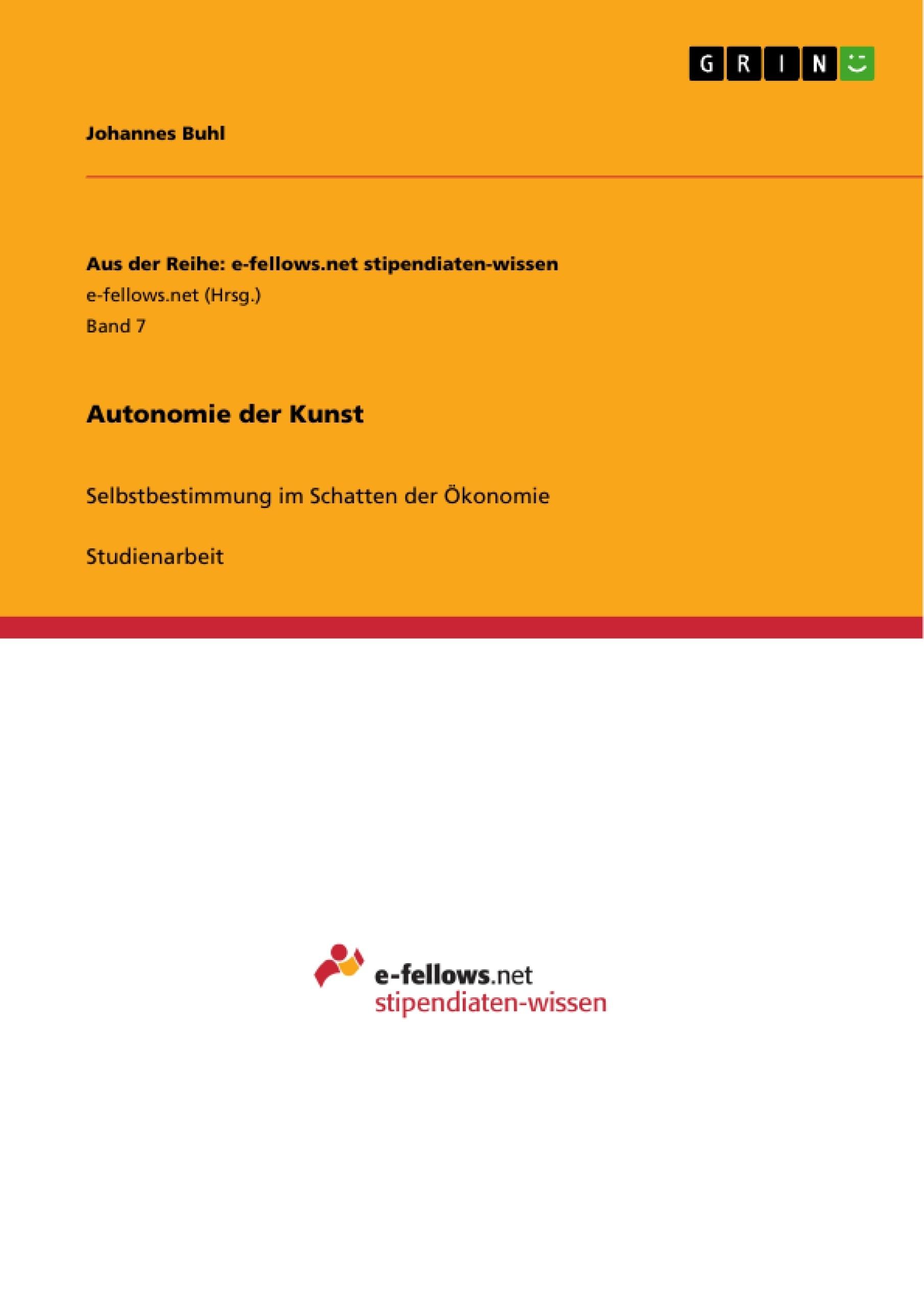 Titel: Autonomie der Kunst
