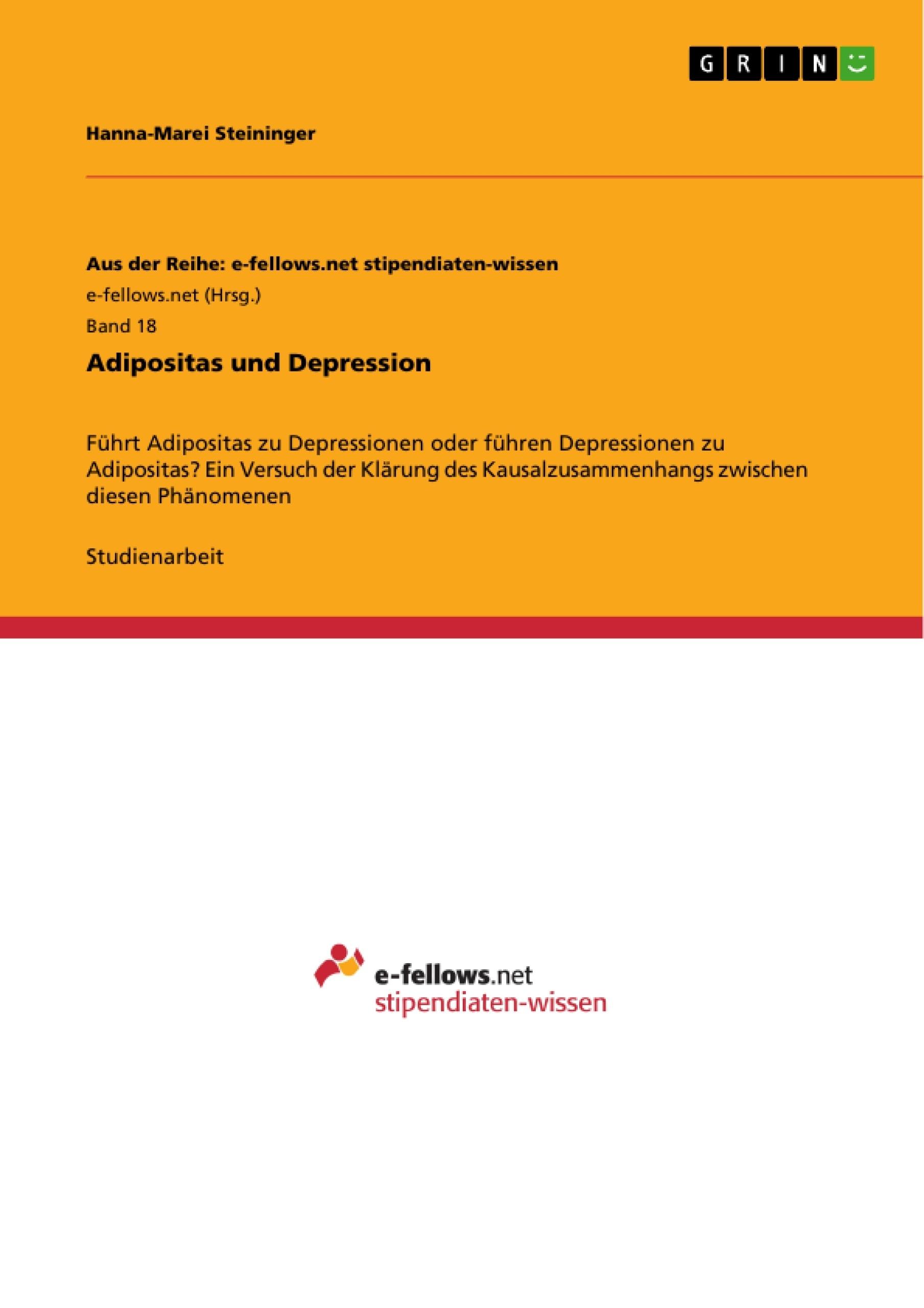 Titel: Adipositas und Depression