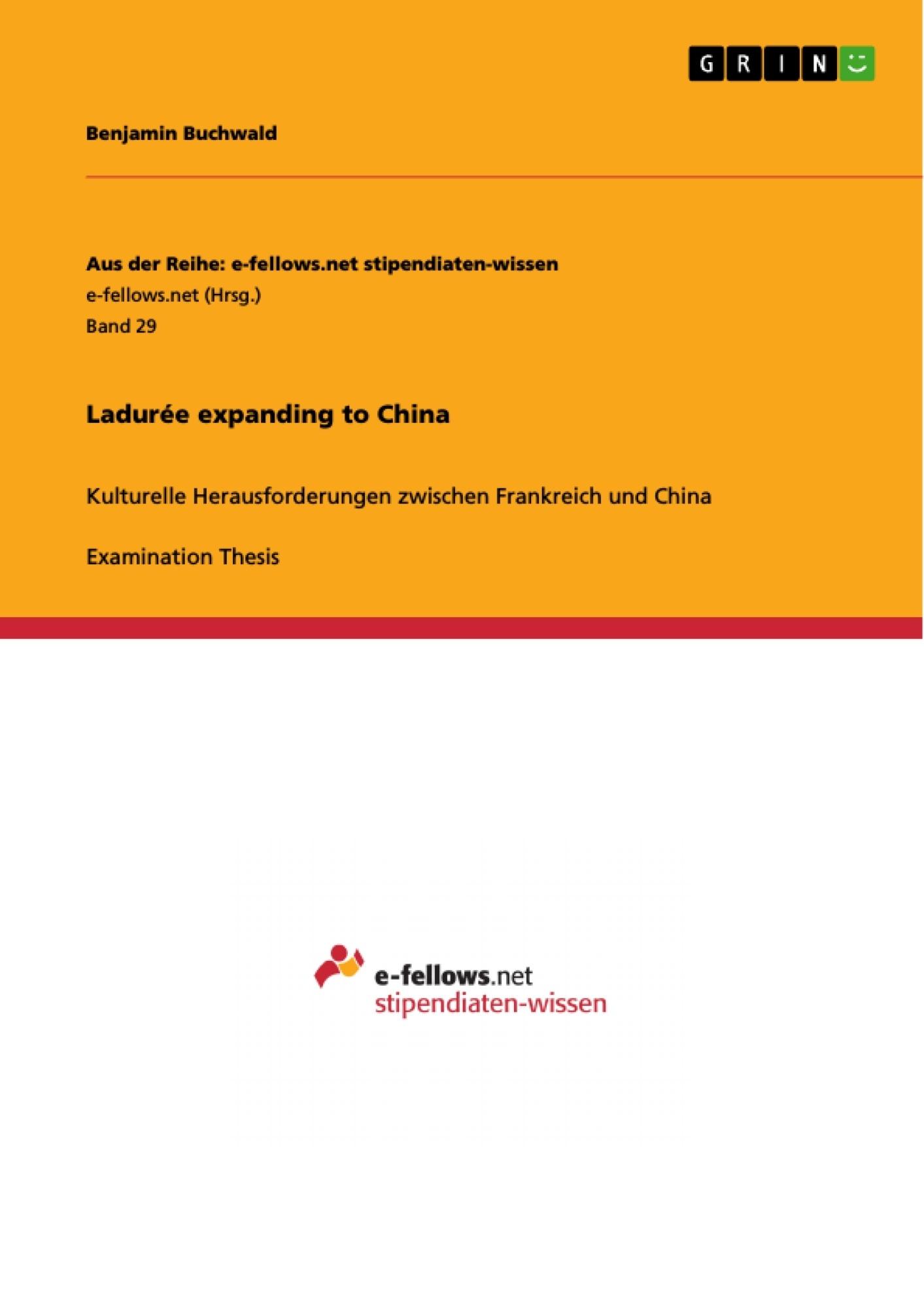 Title: Ladurée expanding to China
