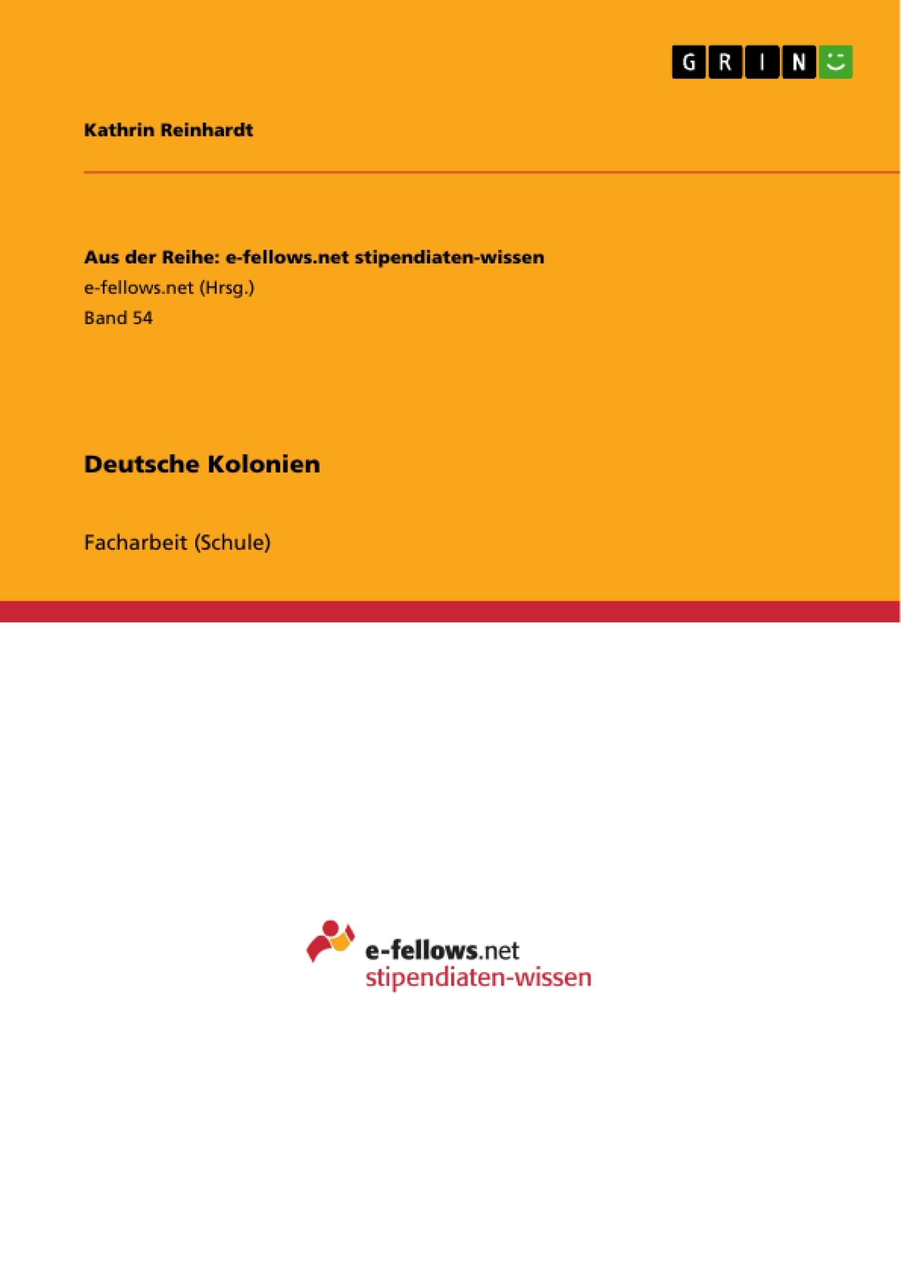 Titel: Deutsche Kolonien