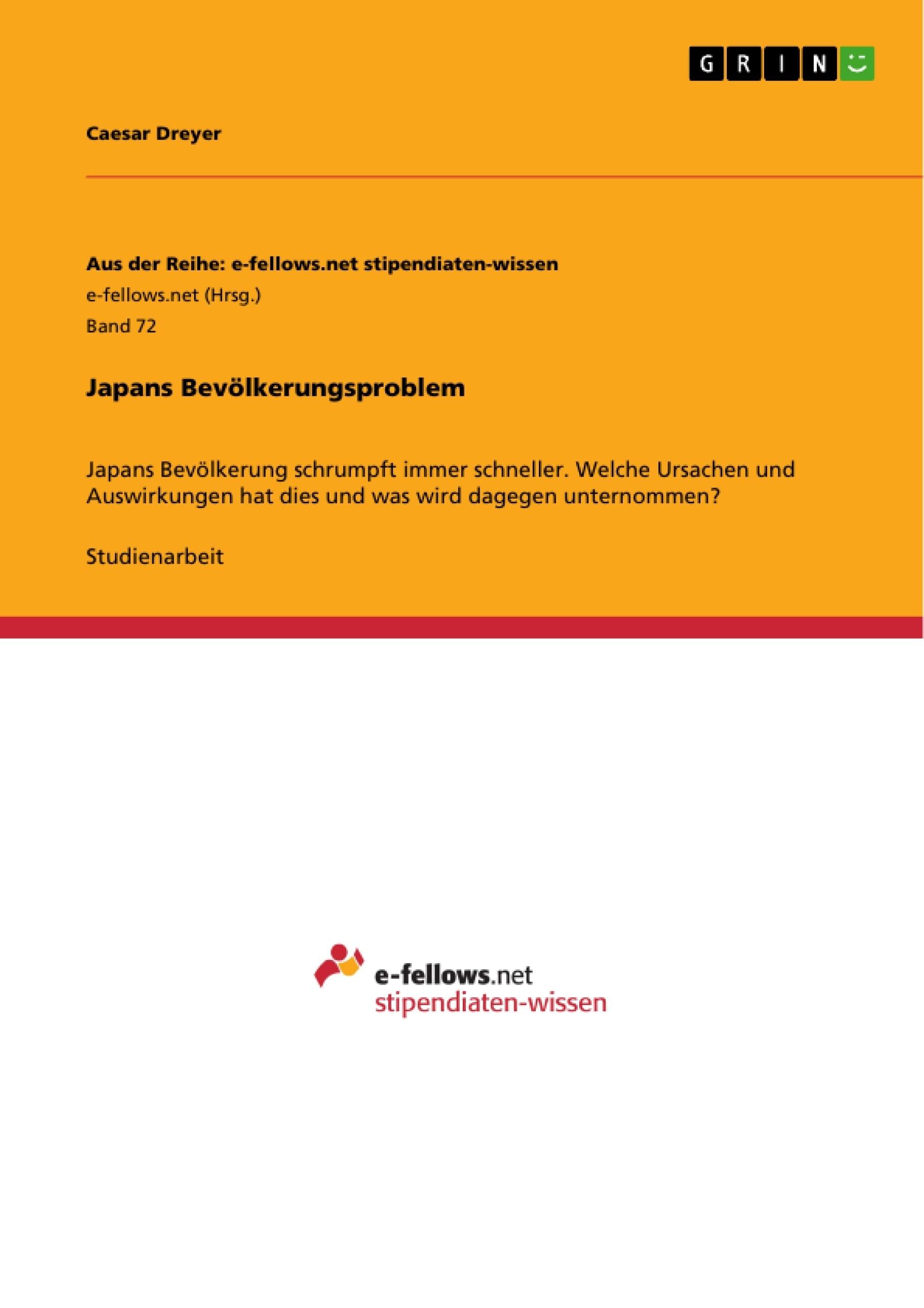Titel: Japans Bevölkerungsproblem