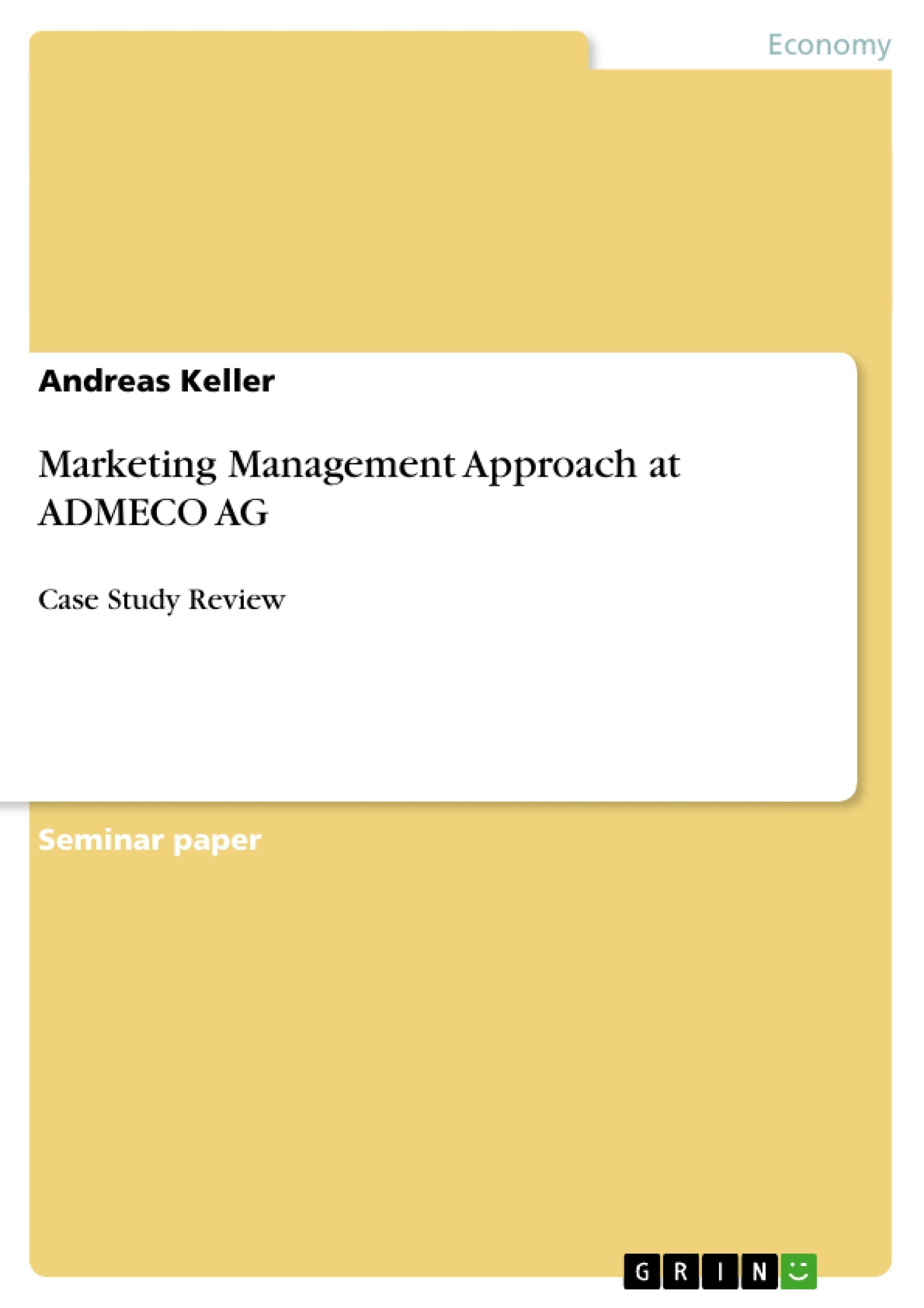 Title: Marketing Management Approach at ADMECO AG