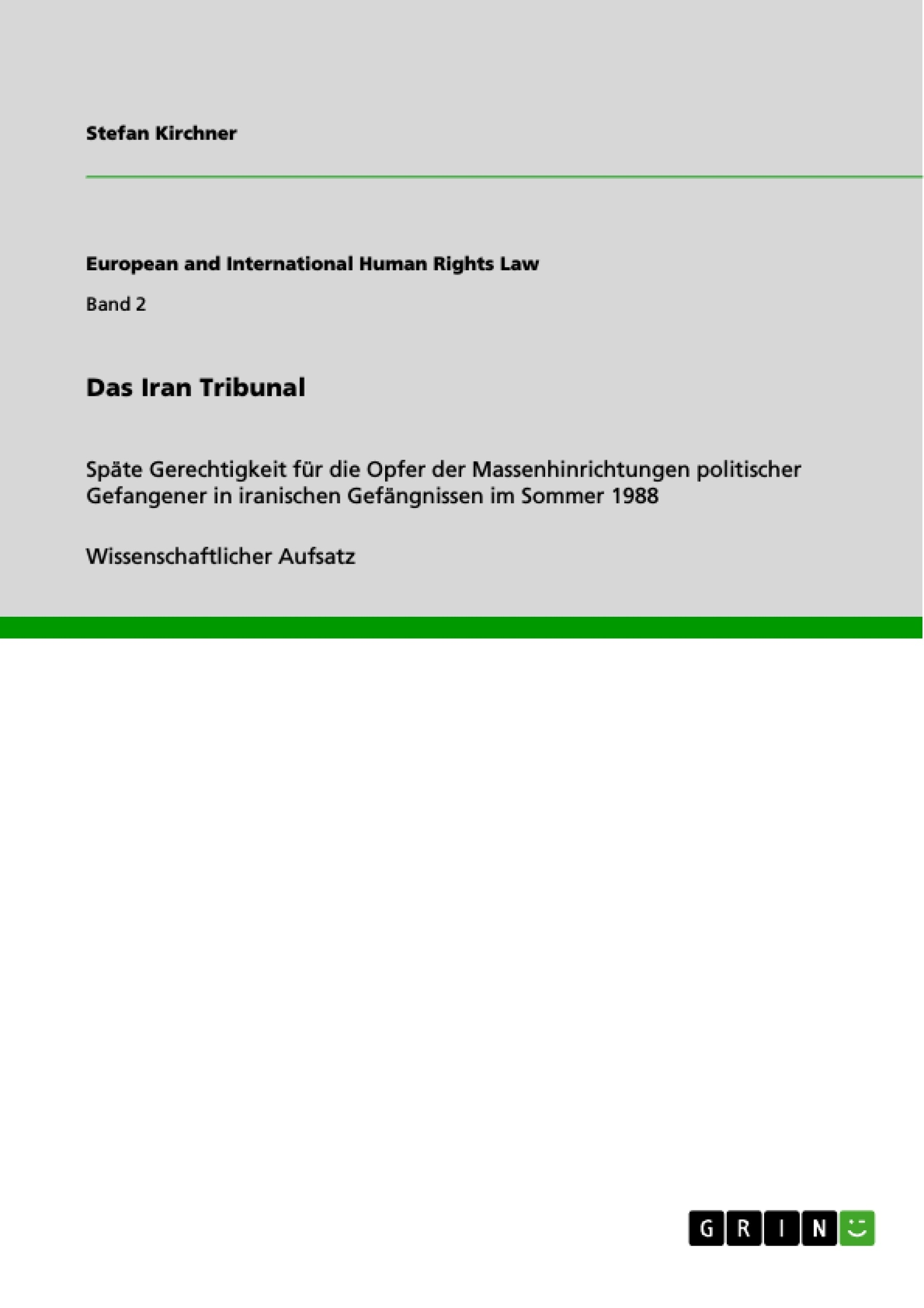 Titel: Das Iran Tribunal