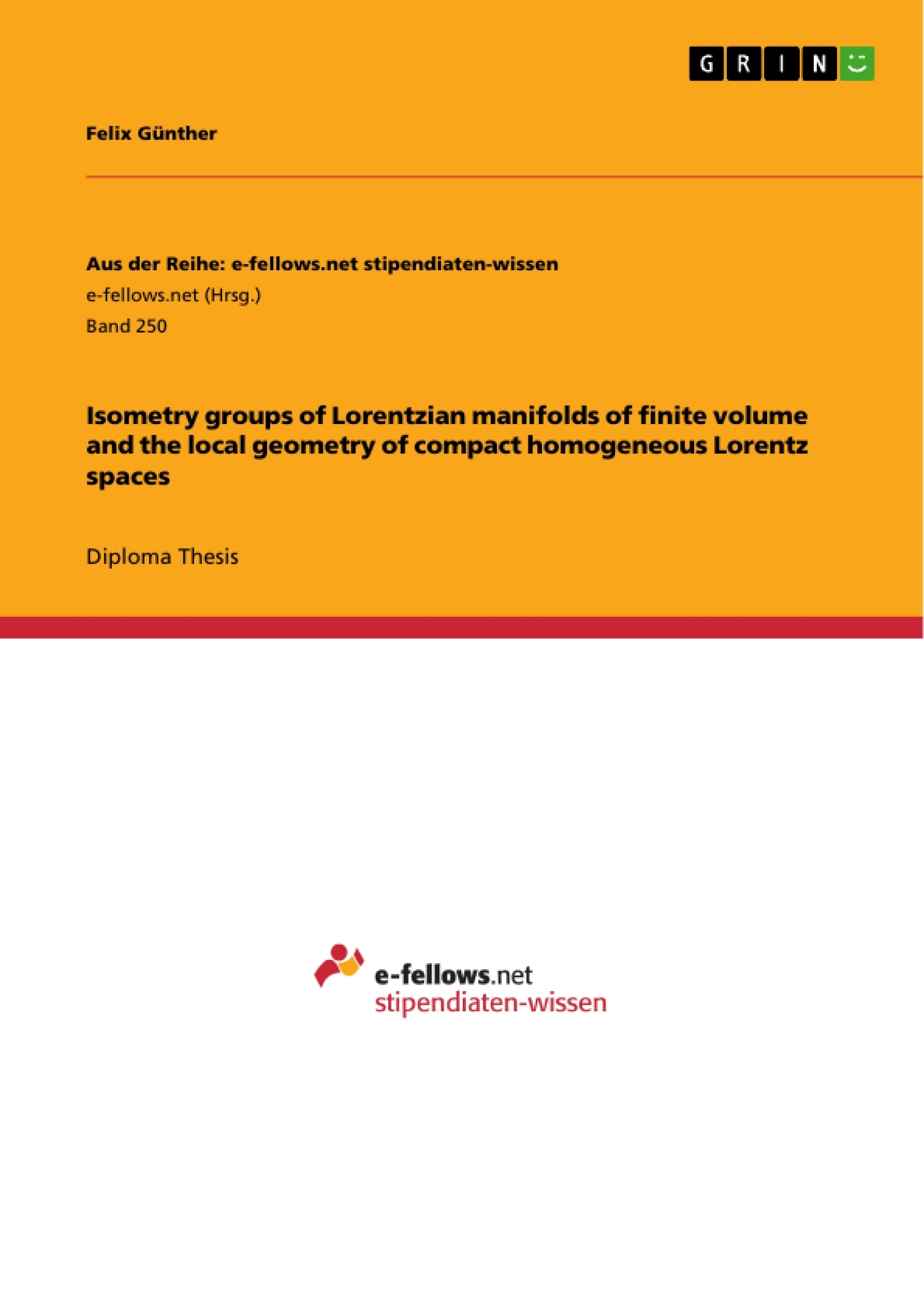 Title: Isometry groups of Lorentzian manifolds of finite volume and the local geometry of compact homogeneous Lorentz spaces
