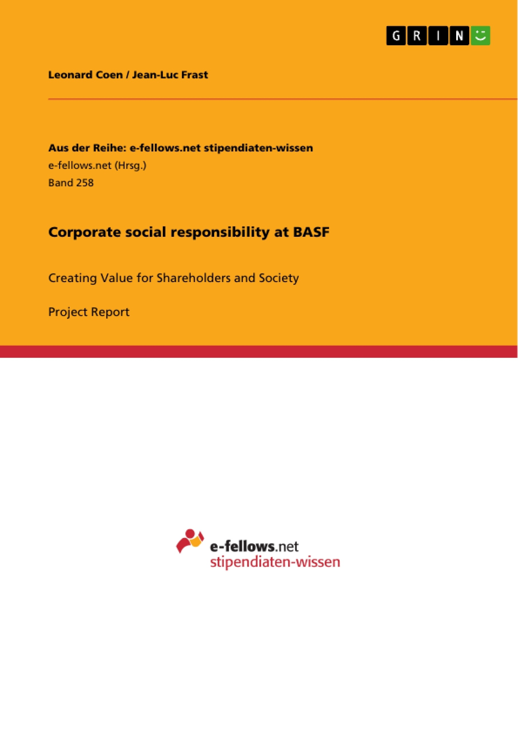 Title: Corporate social responsibility at BASF