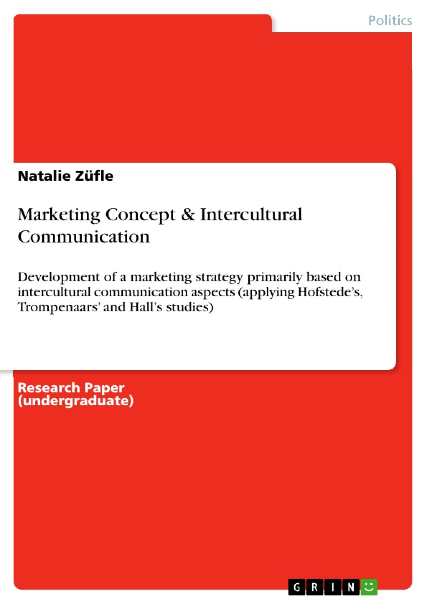 Title: Marketing Concept & Intercultural Communication