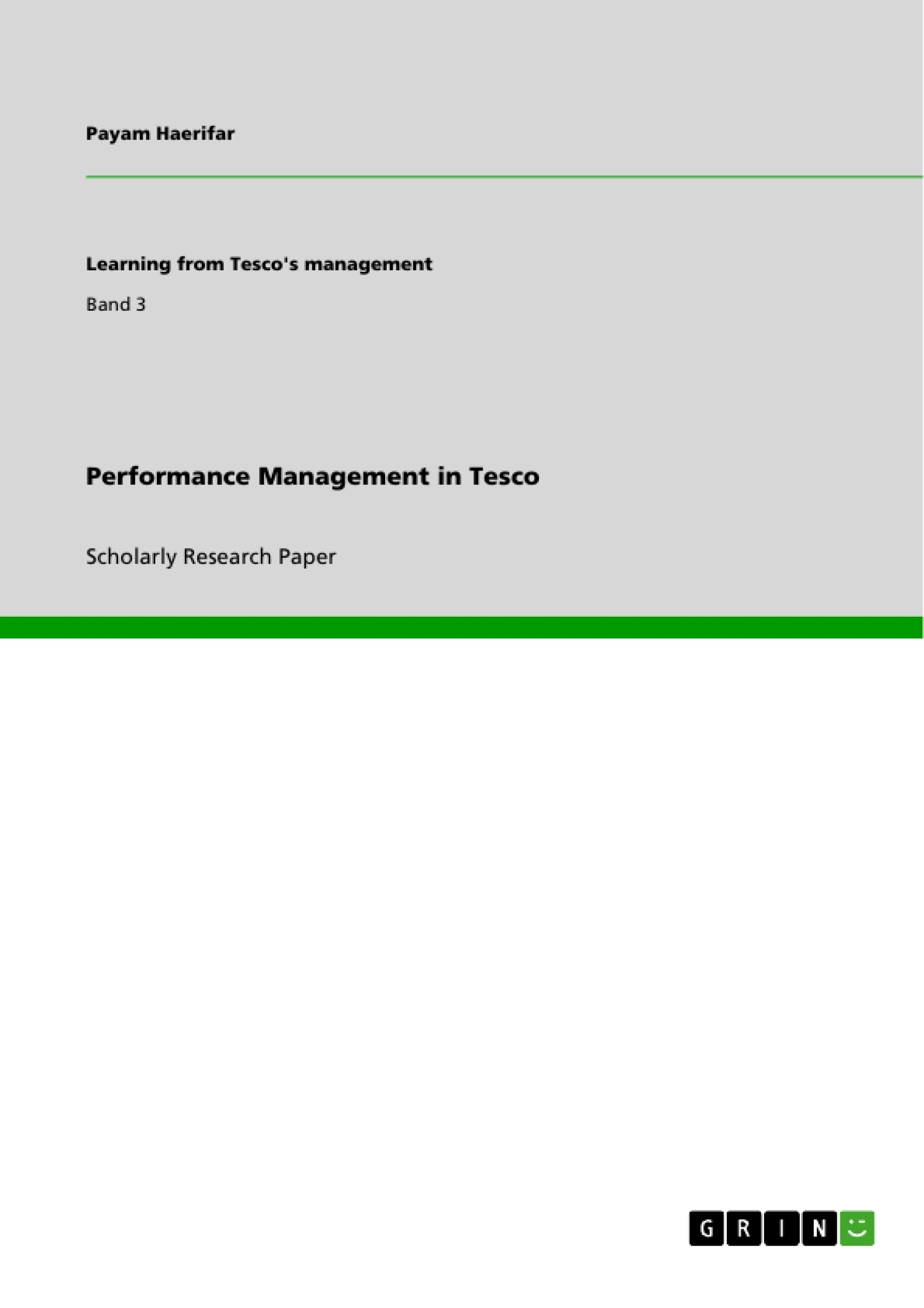 Title: Performance Management in Tesco