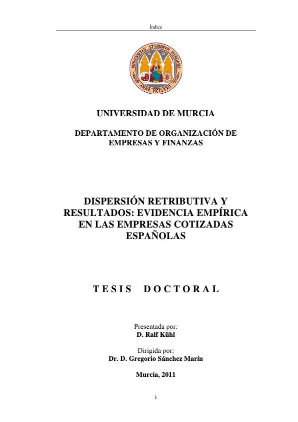 Título: Dispersión retributiva y resultados: evidencia empírica en las empresas cotizadas españolas
