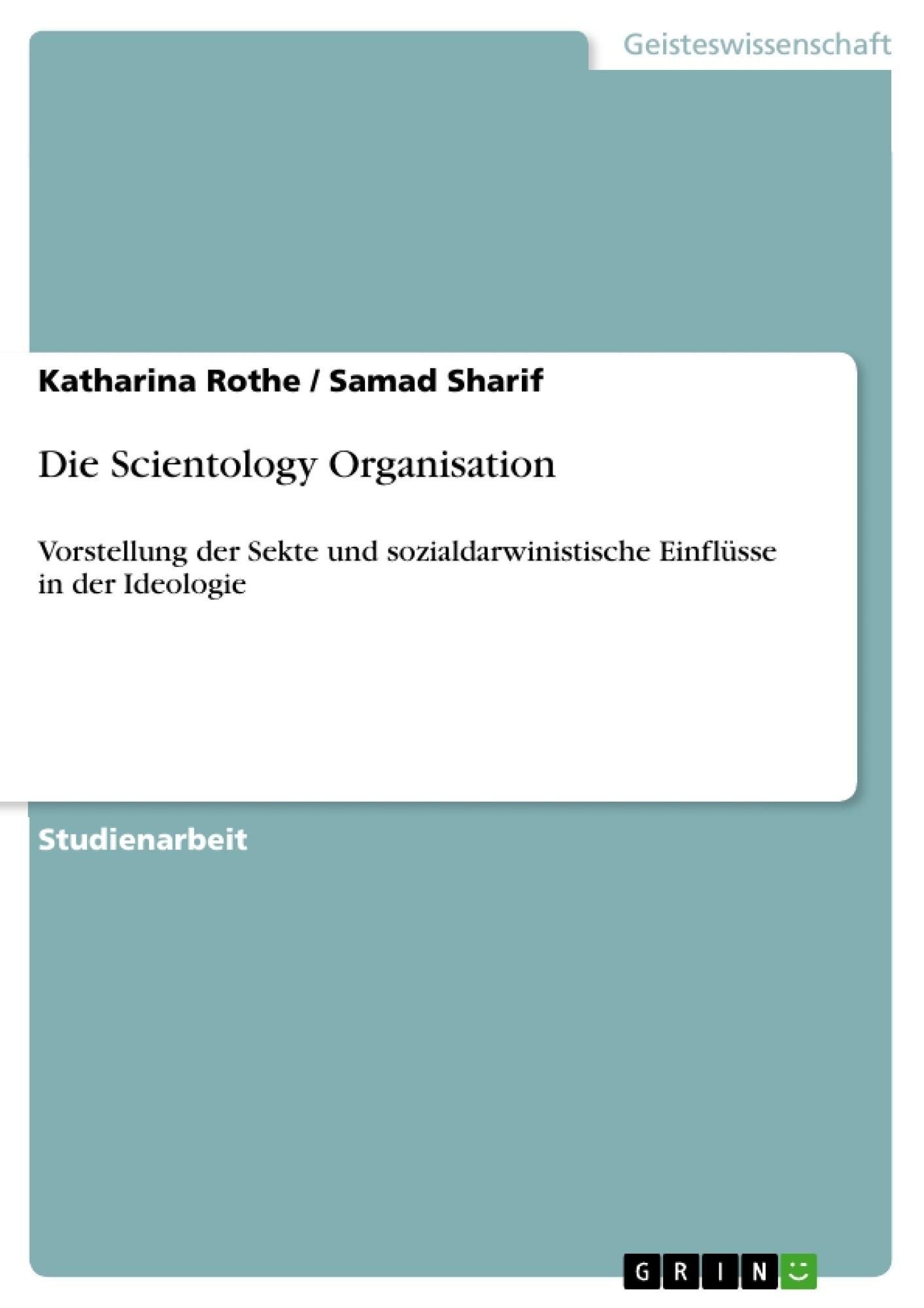 Titel: Die Scientology Organisation