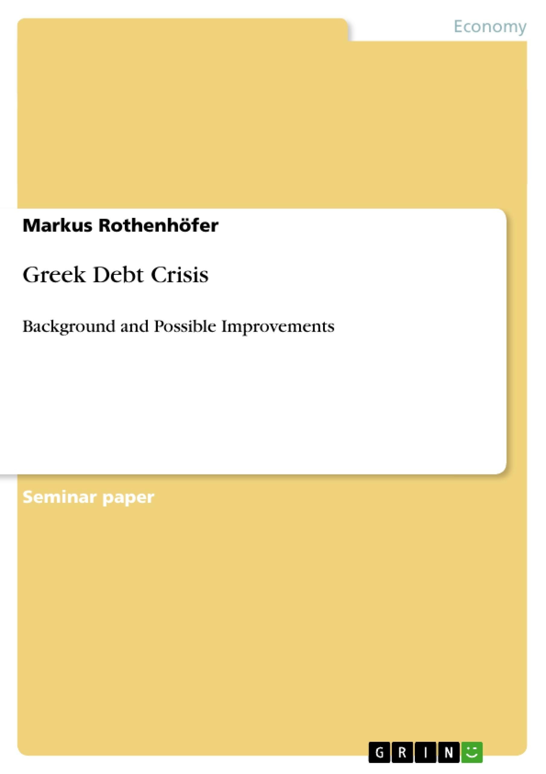 Title: Greek Debt Crisis