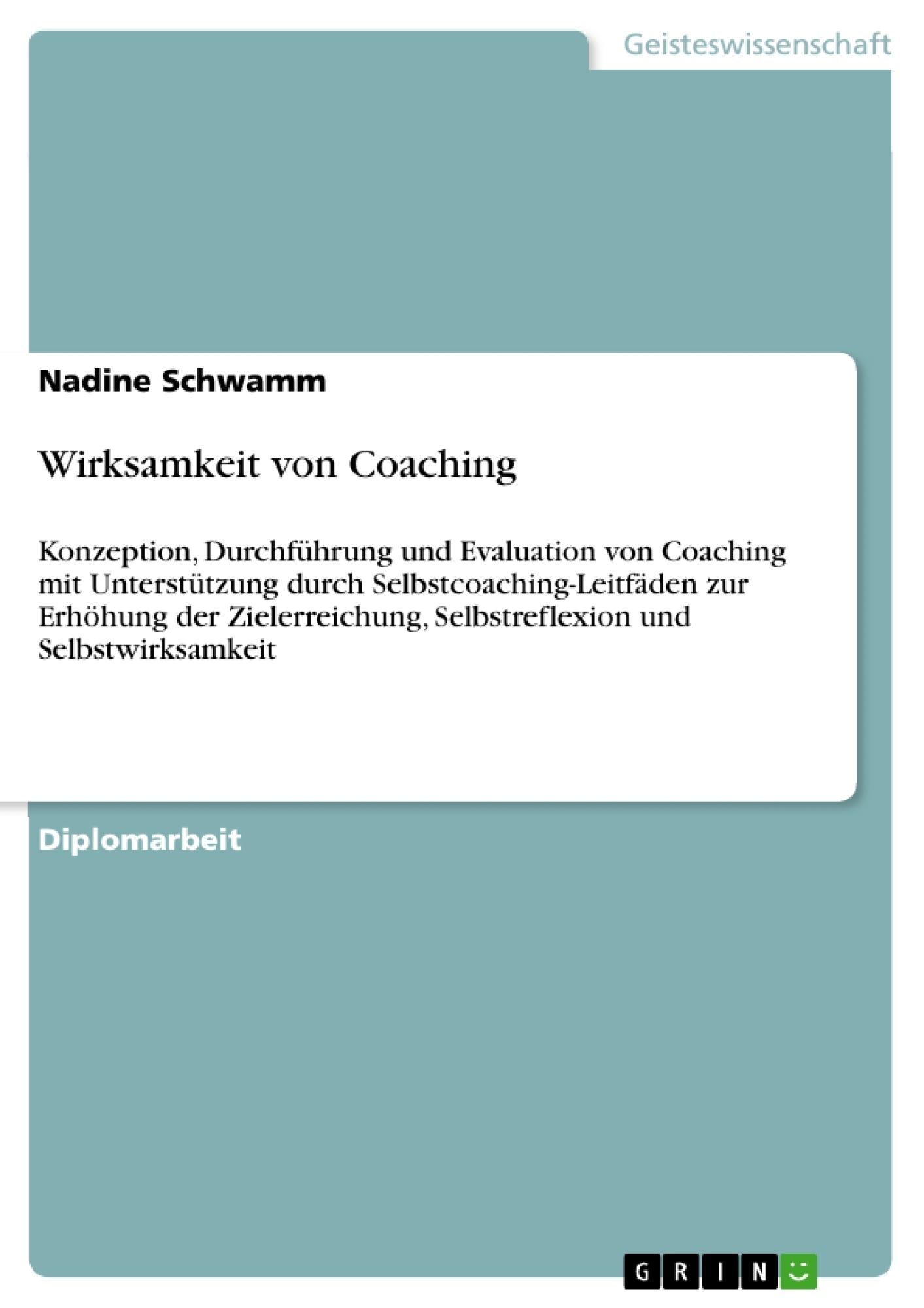 Titel: Wirksamkeit von Coaching