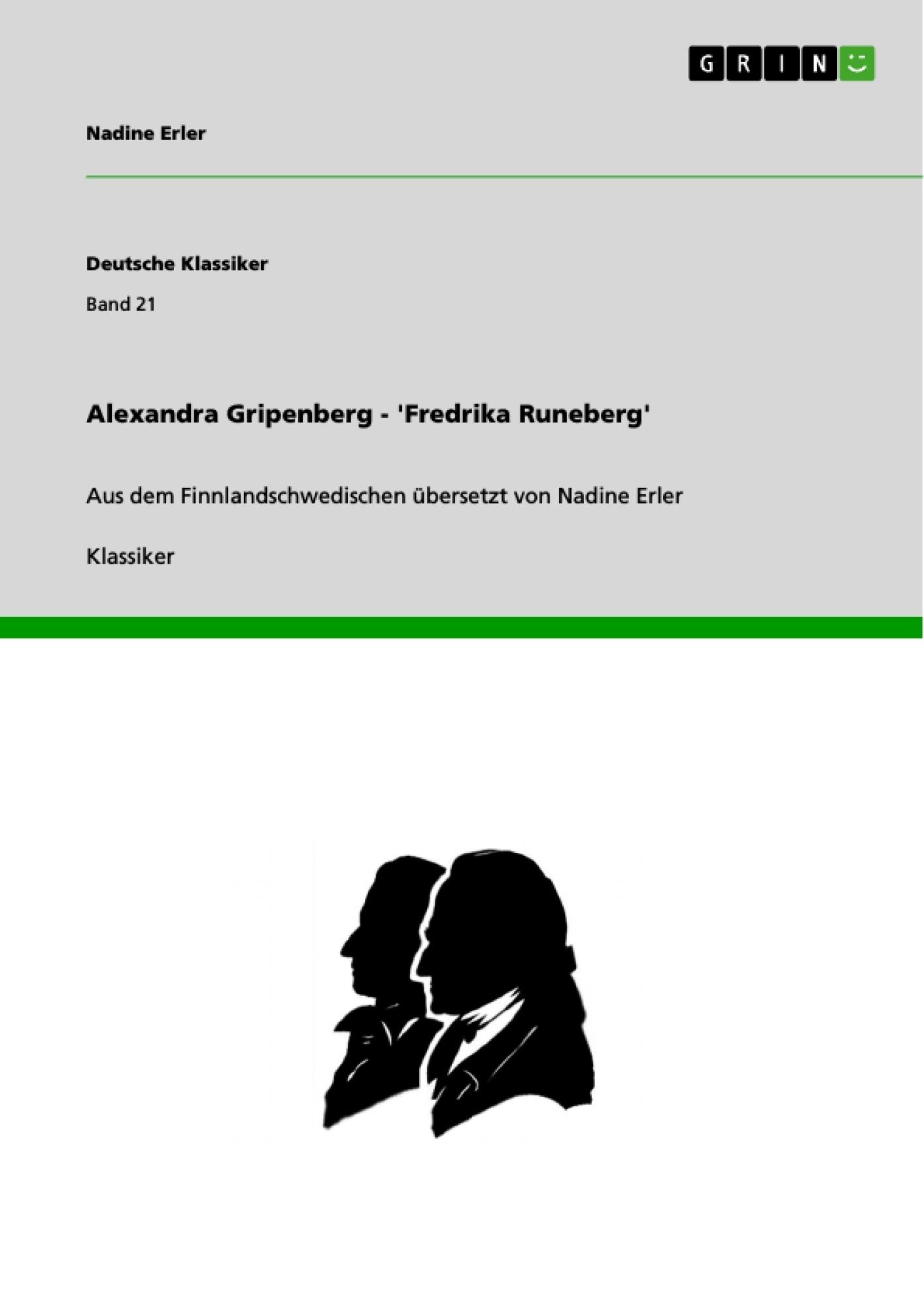 Titel: Alexandra Gripenberg - 'Fredrika Runeberg'