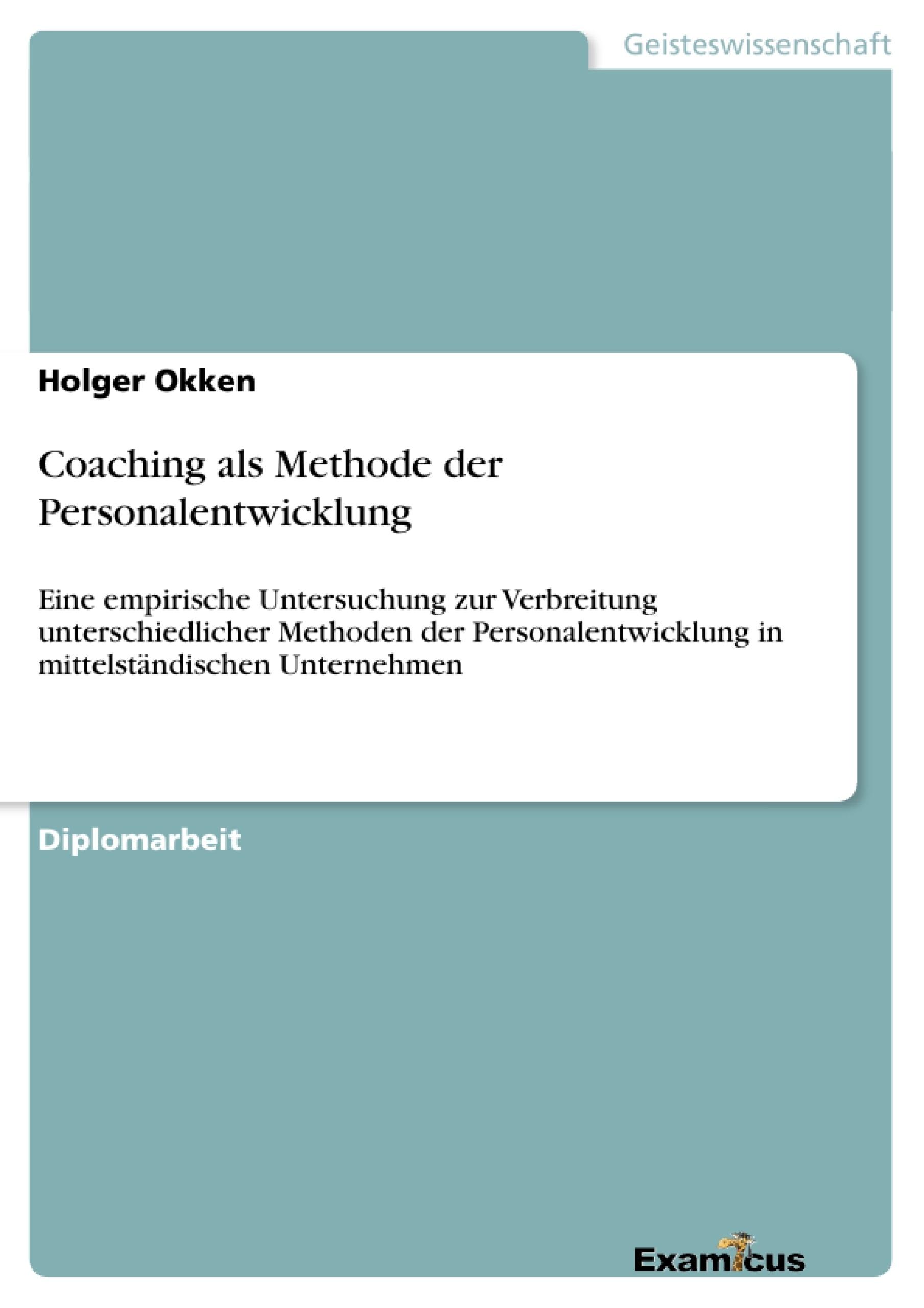 Titel: Coaching als Methode der Personalentwicklung