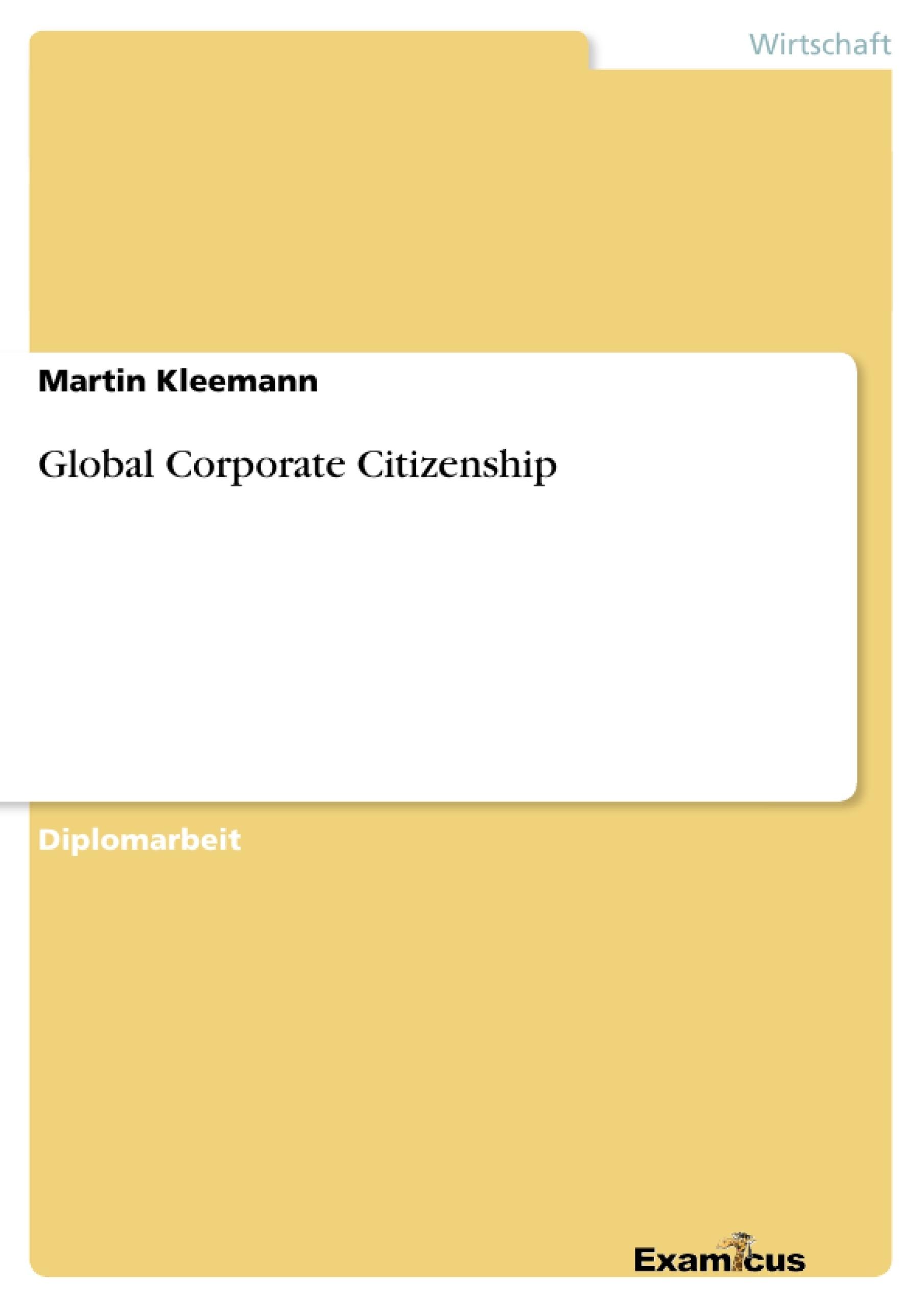 Titel: Global Corporate Citizenship
