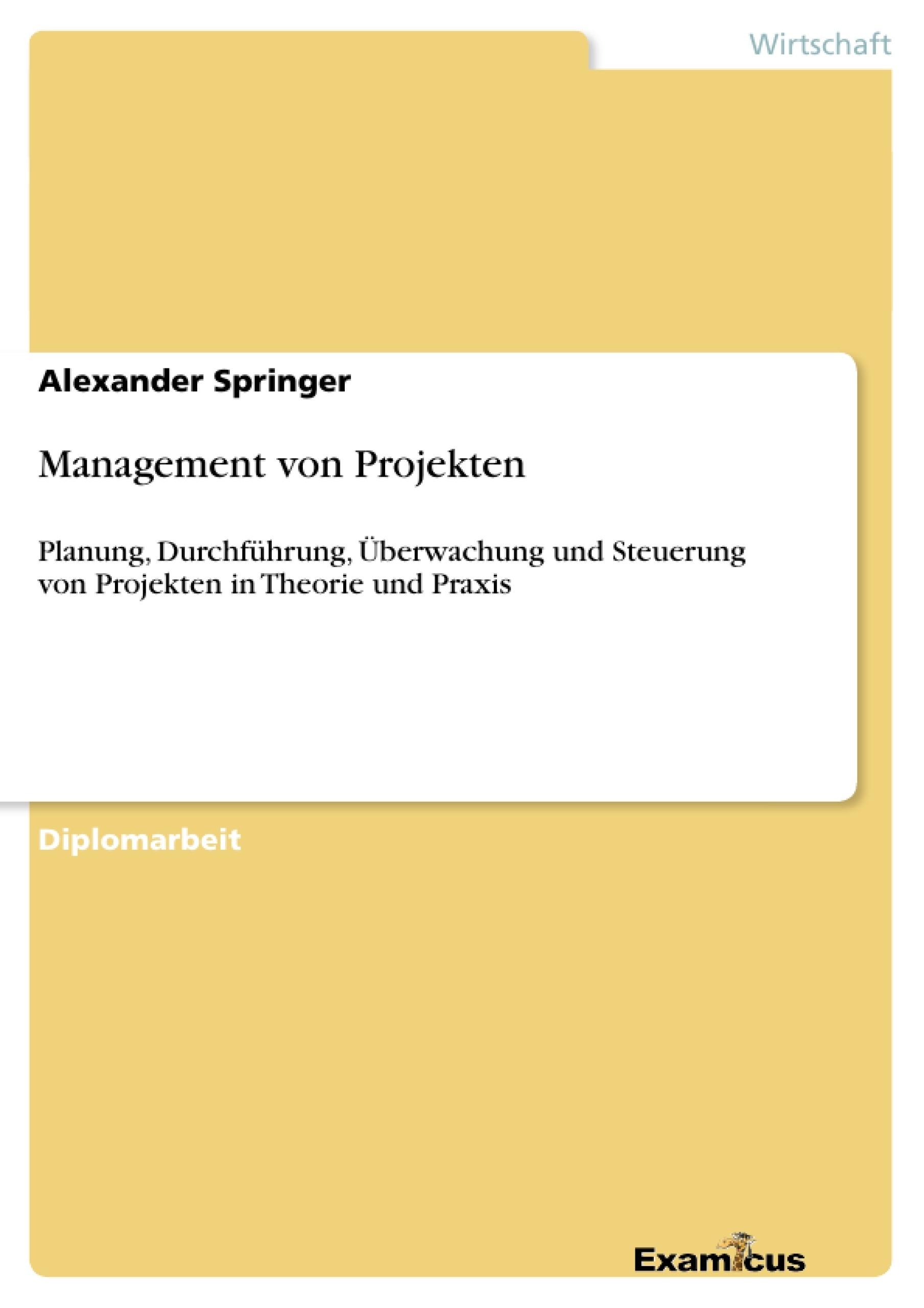 Titel: Management von Projekten