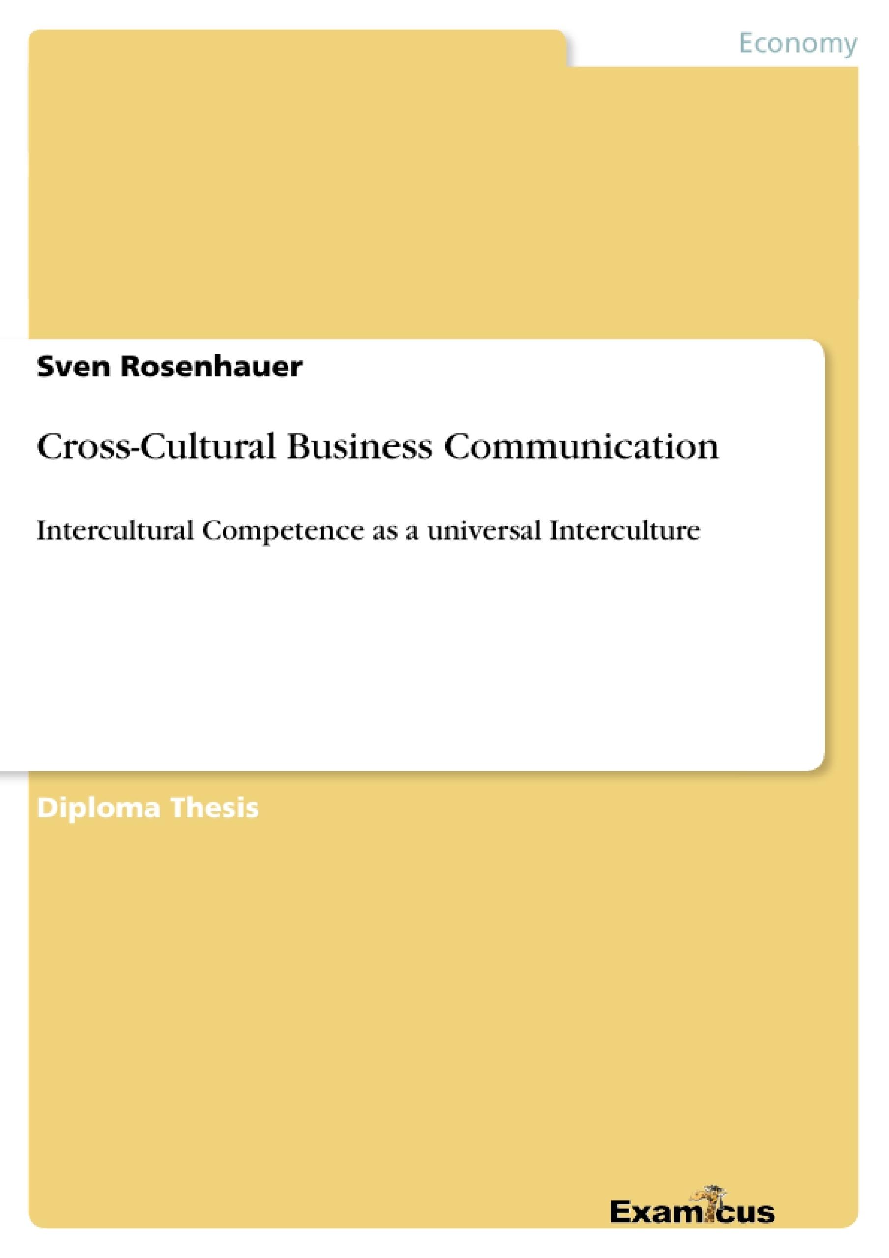 Title: Cross-Cultural Business Communication