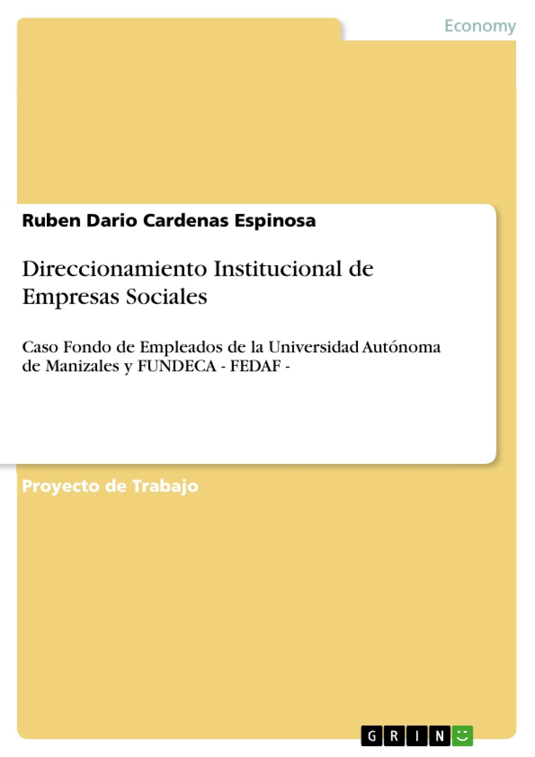 Título: Direccionamiento Institucional de Empresas Sociales