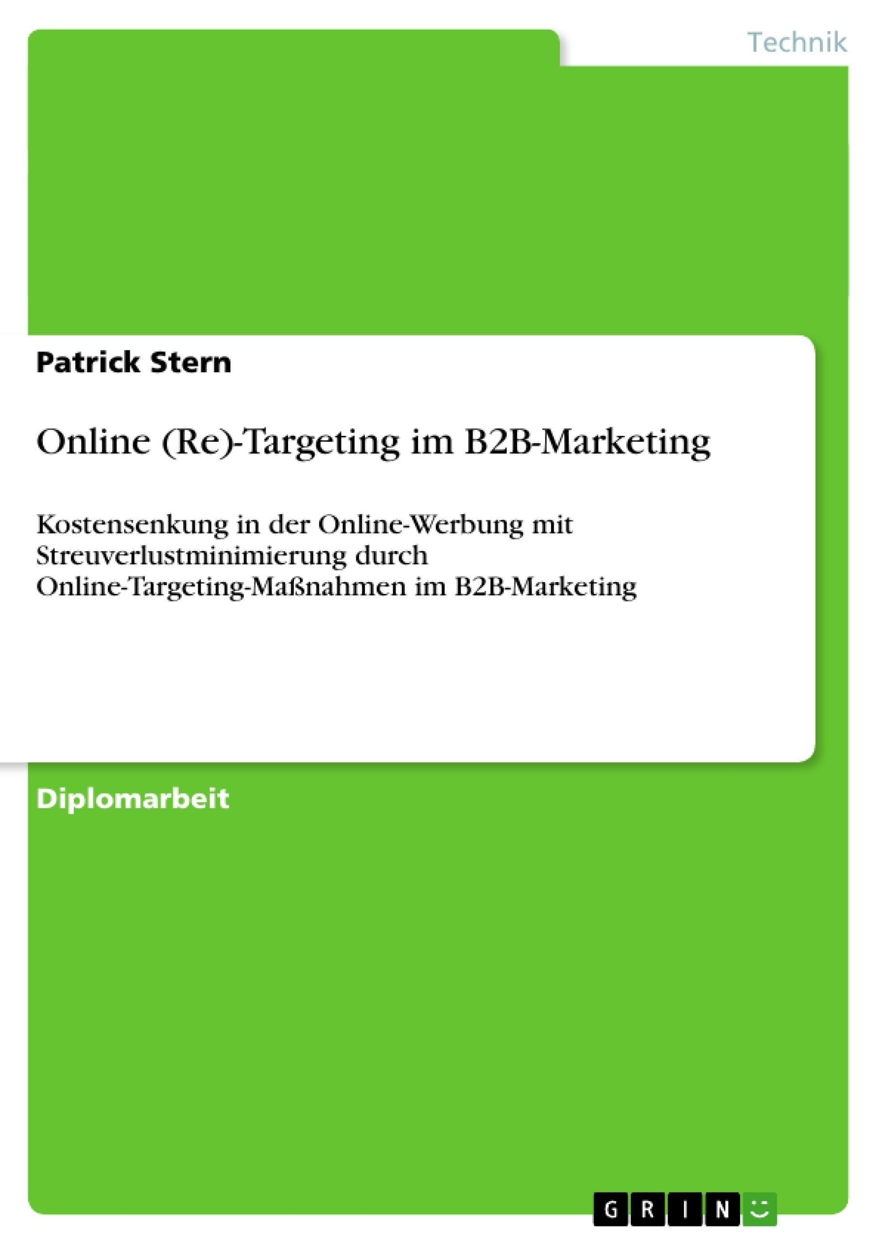 Titel: Online (Re)-Targeting im B2B-Marketing