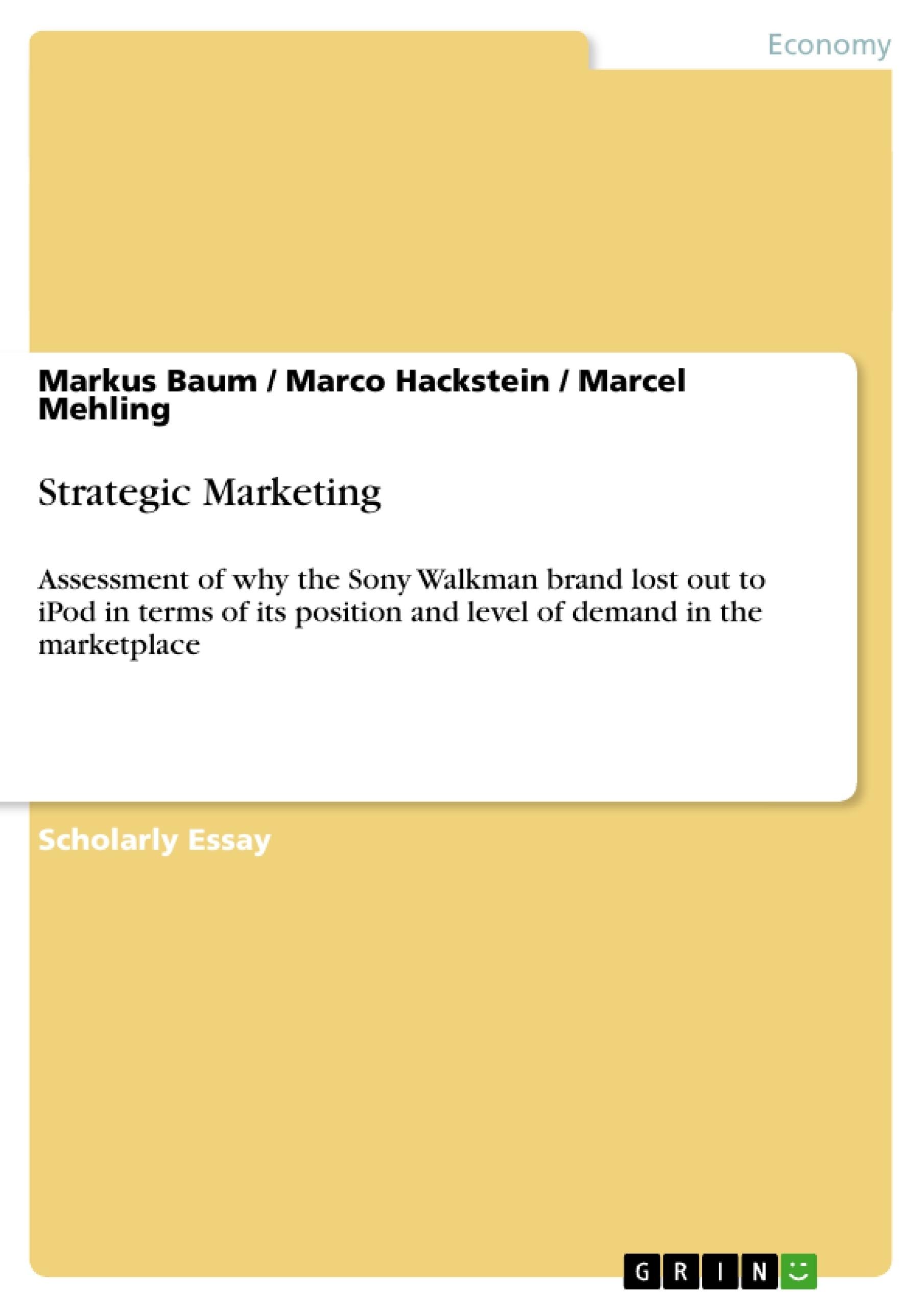 Title: Strategic Marketing