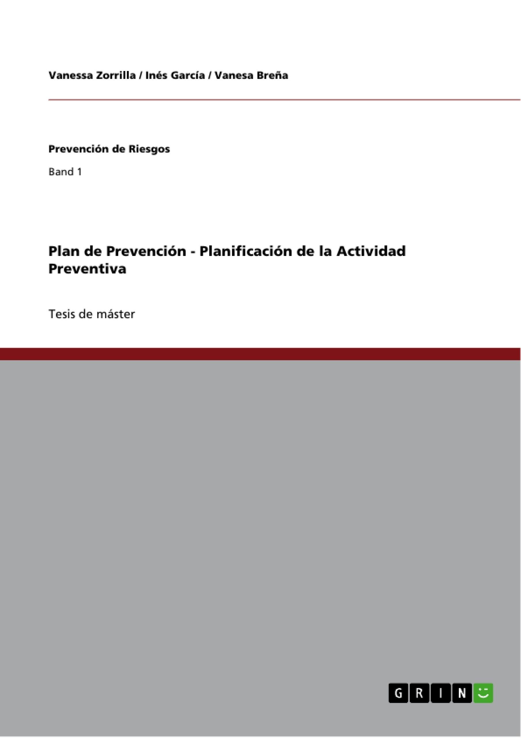 Título: Plan de Prevención - Planificación de la Actividad Preventiva