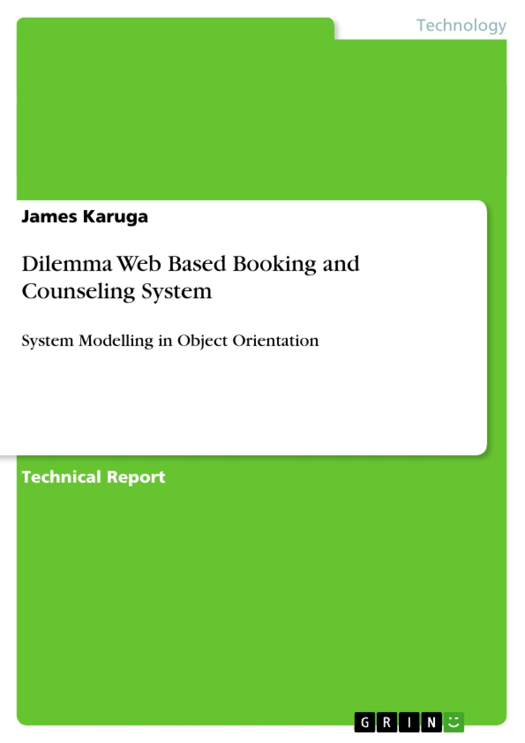 Title: Dilemma Web Based Booking and Counseling System
