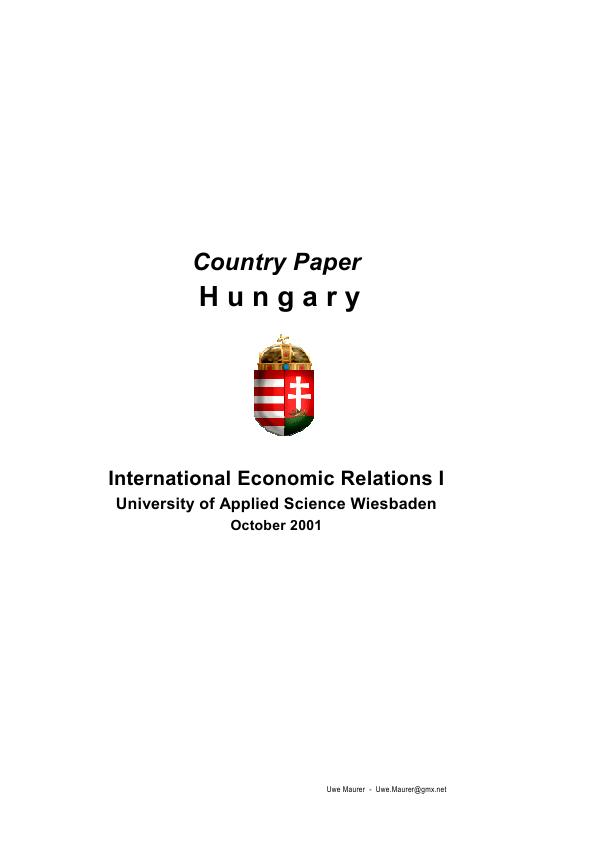Title: Country Paper Hungary