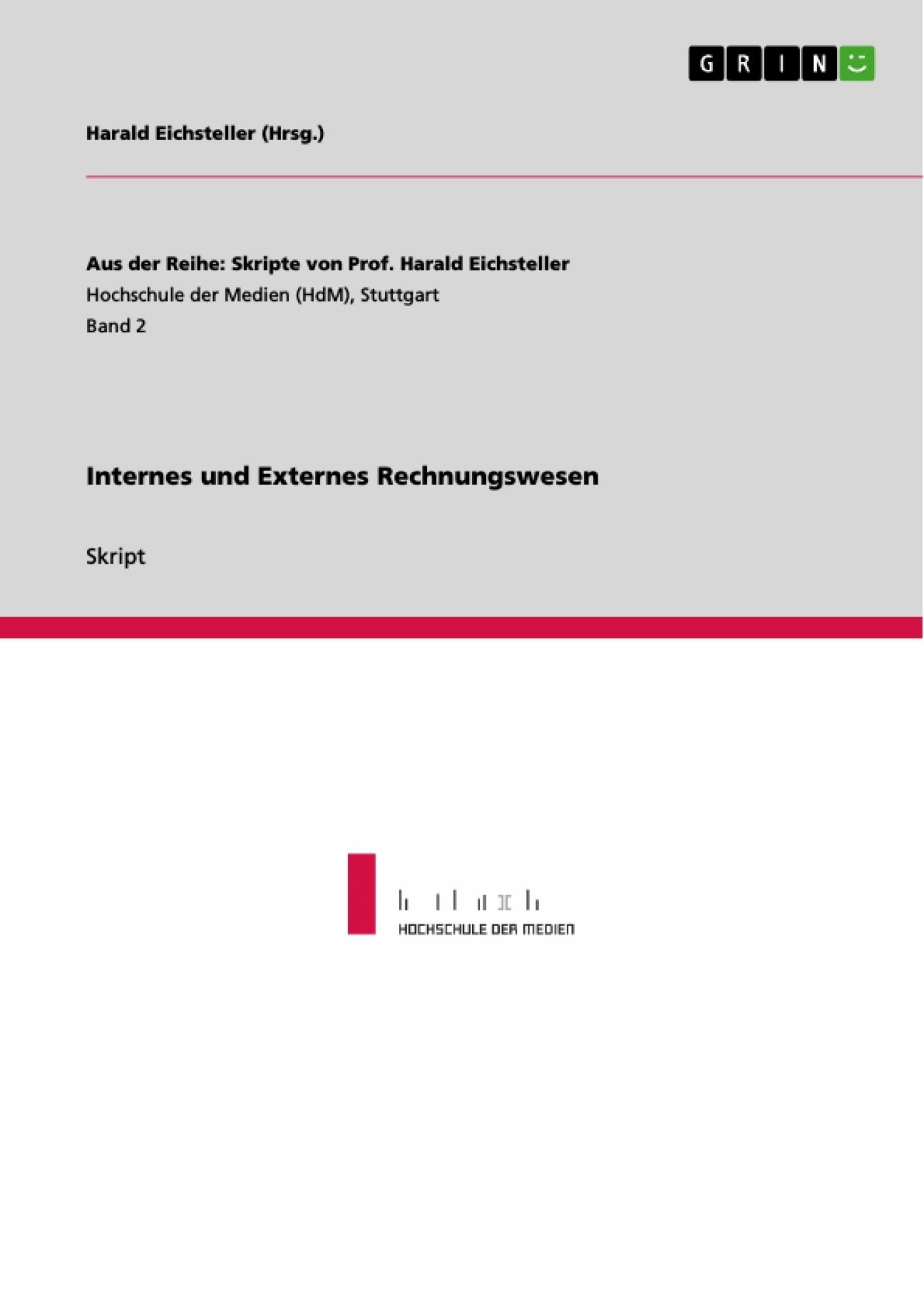 Internes Und Externes Rechnungswesen Masterarbeit Hausarbeit