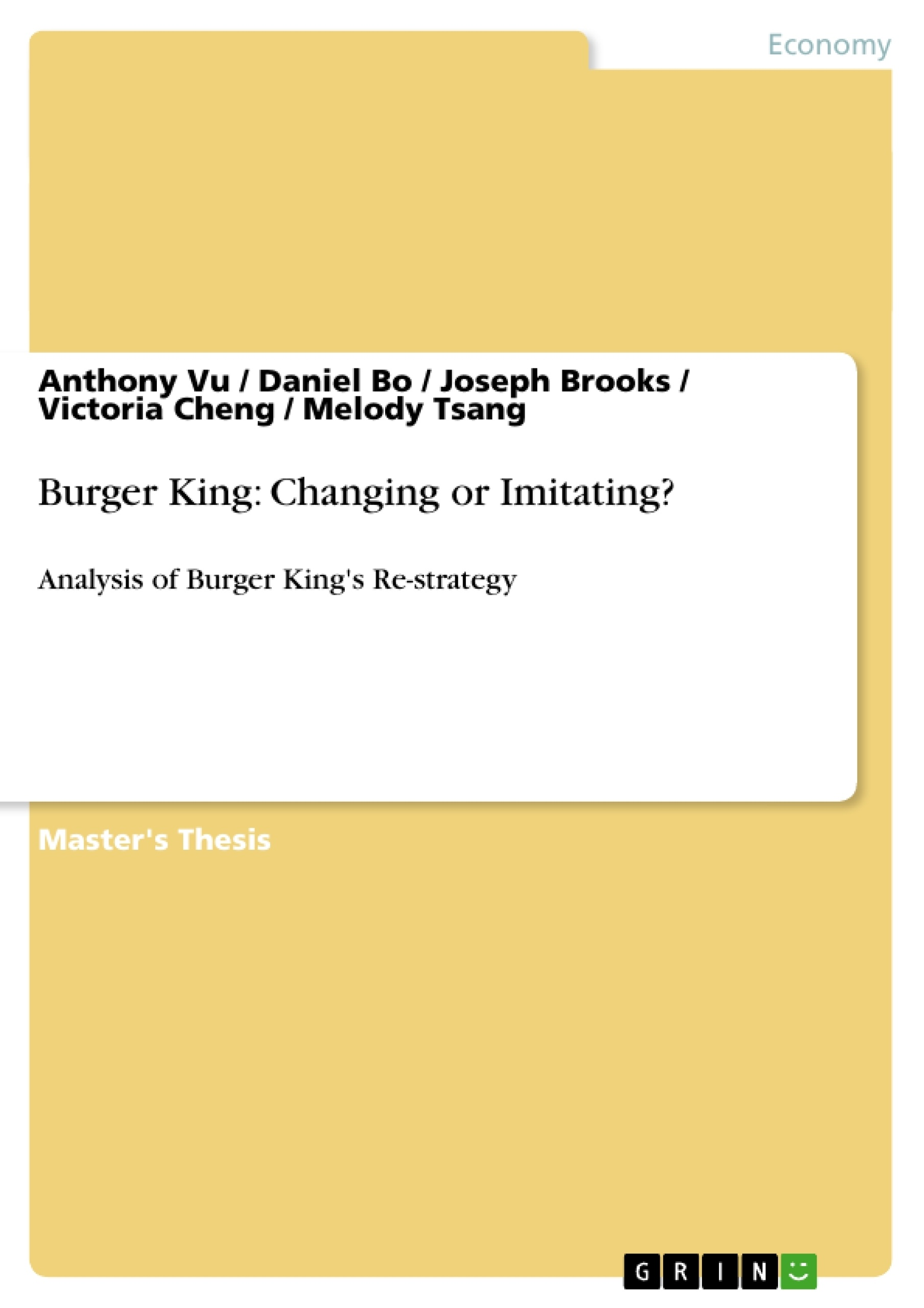 burger king financial ratios