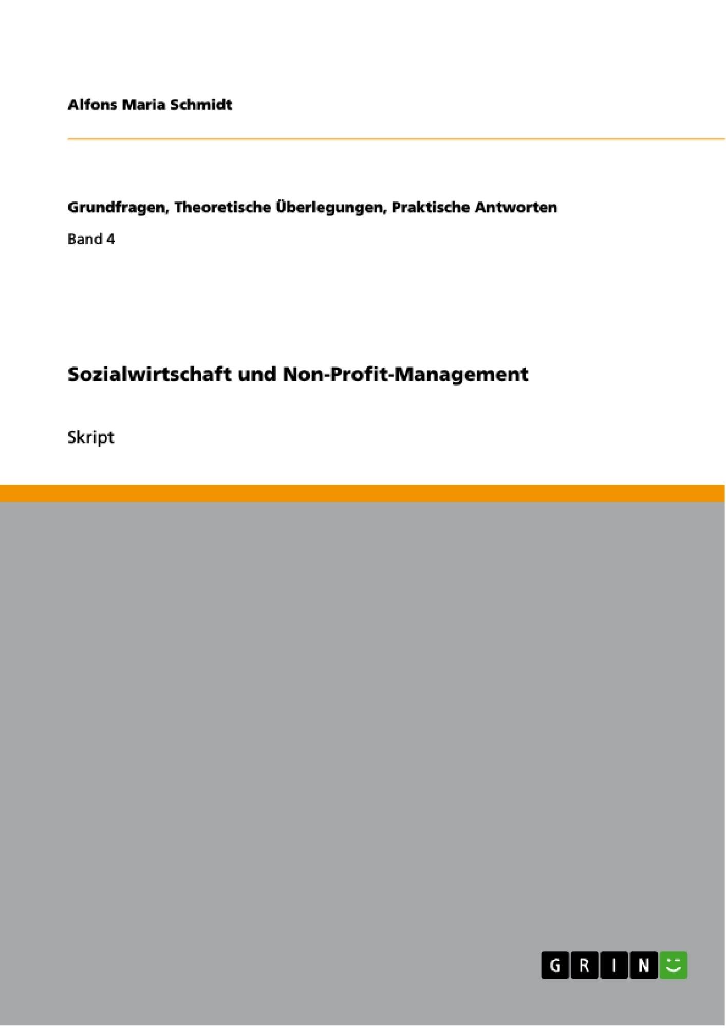 Titel: Sozialwirtschaft und Non-Profit-Management