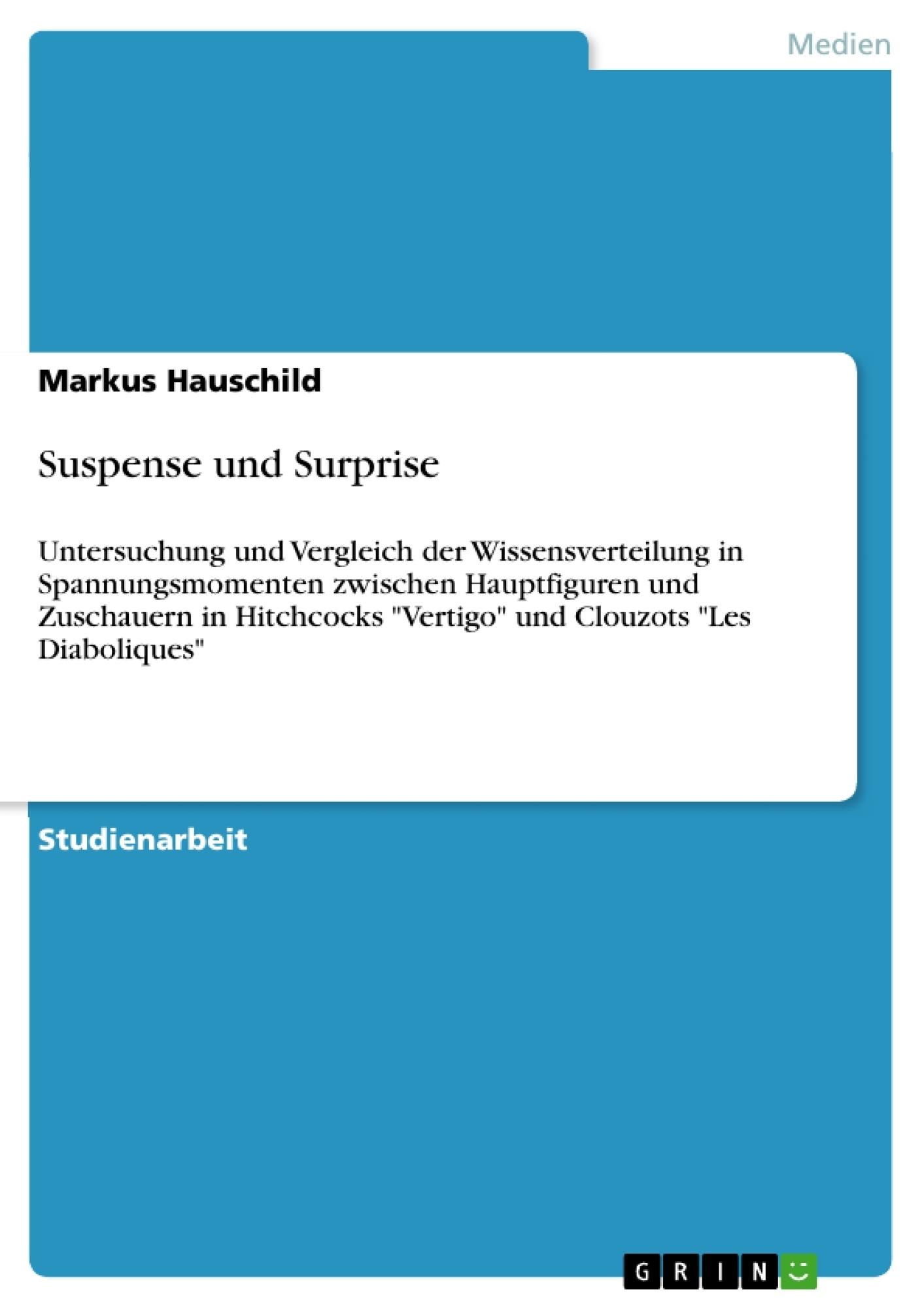 Titel: Suspense und Surprise