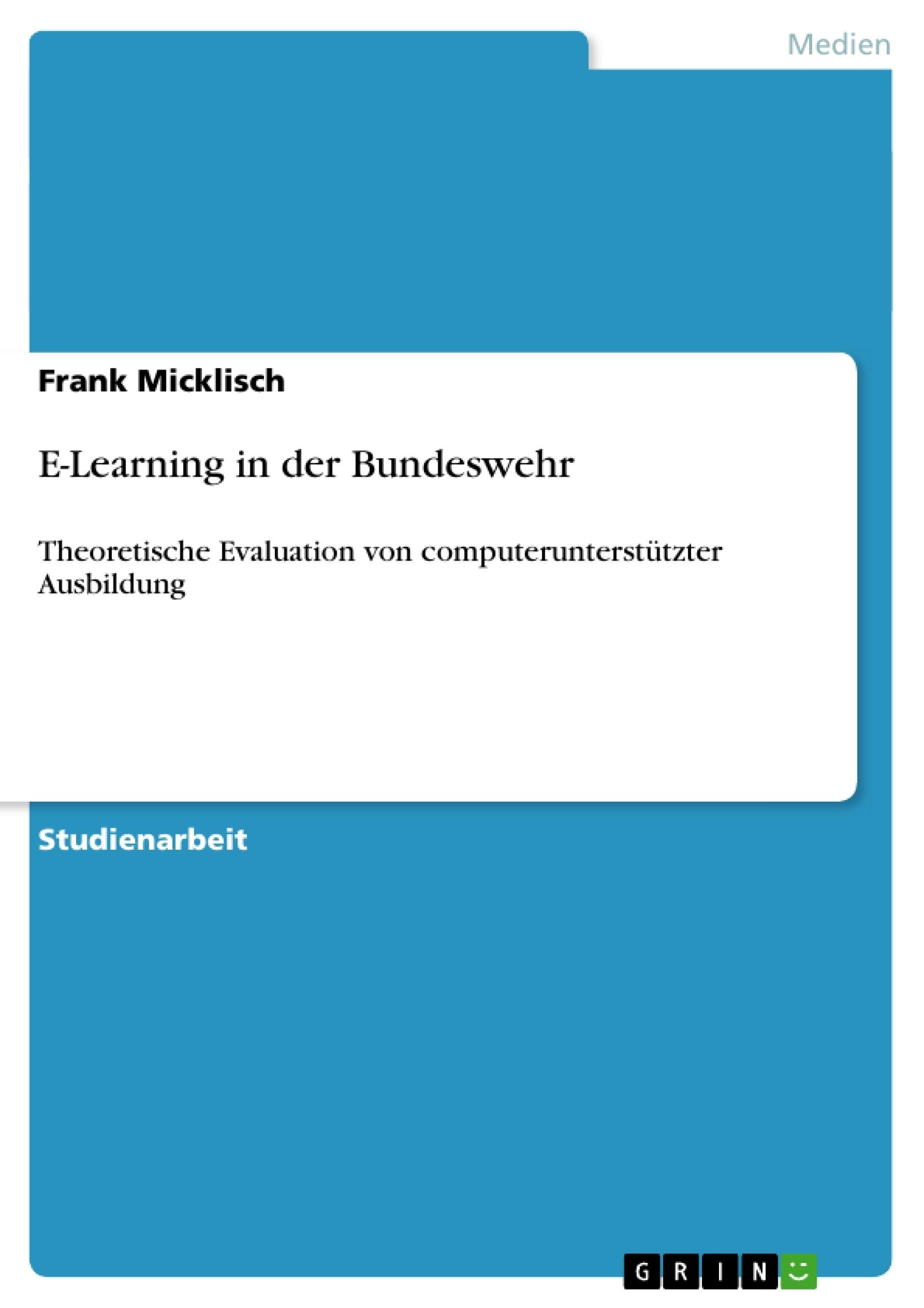 Titel: E-Learning in der Bundeswehr