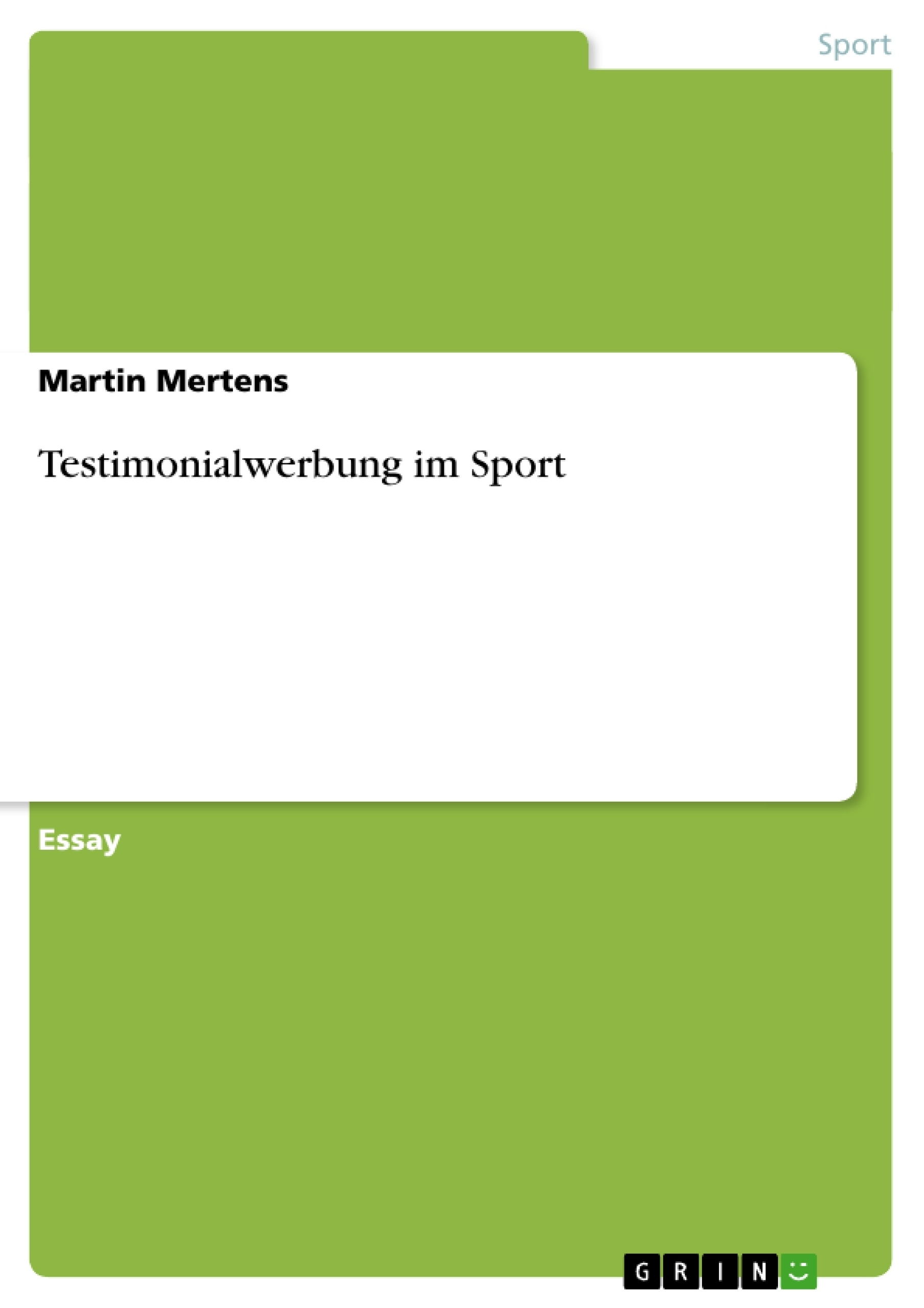 Titel: Testimonialwerbung im Sport