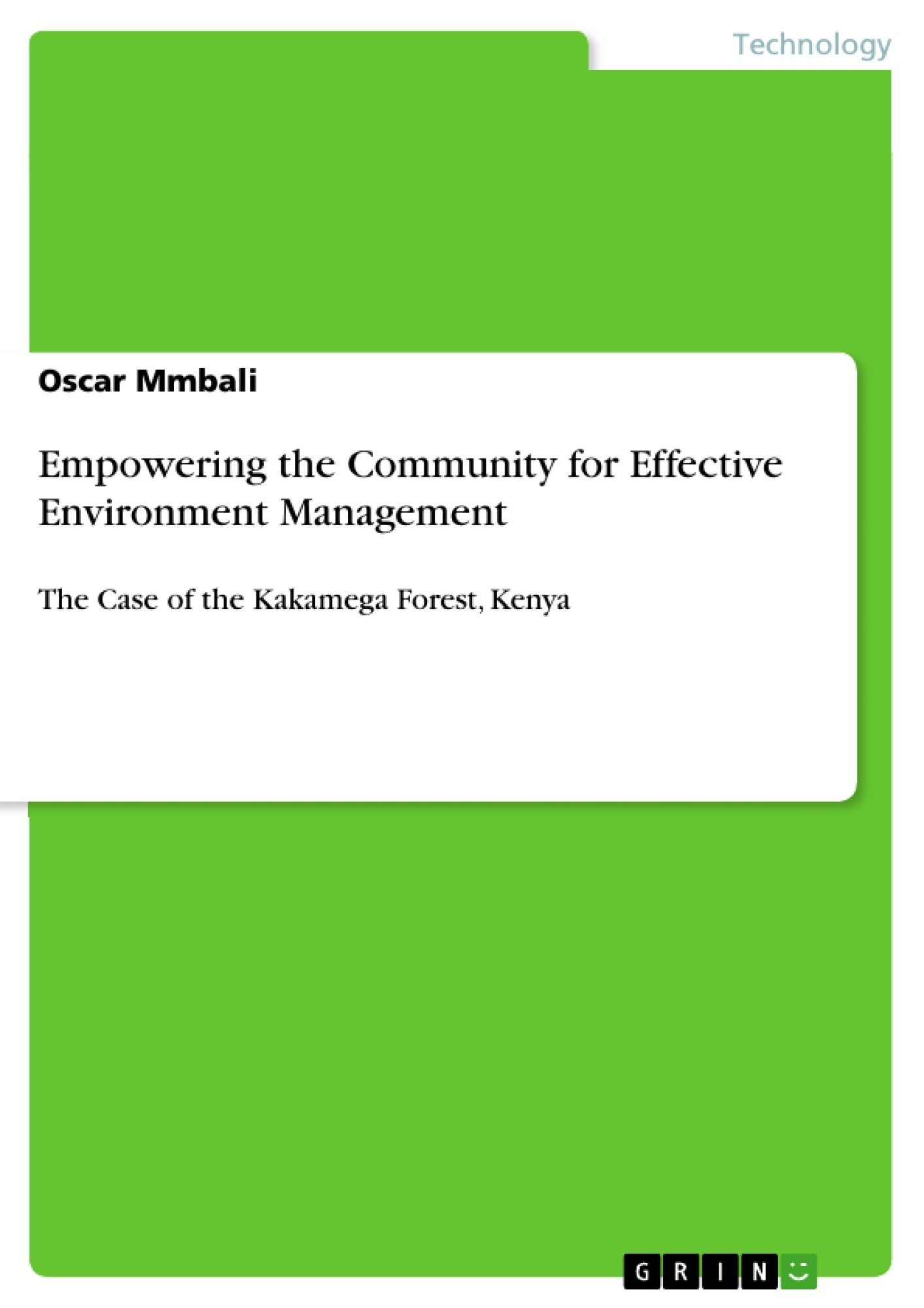 Title: Empowering the Community for Effective Environment Management