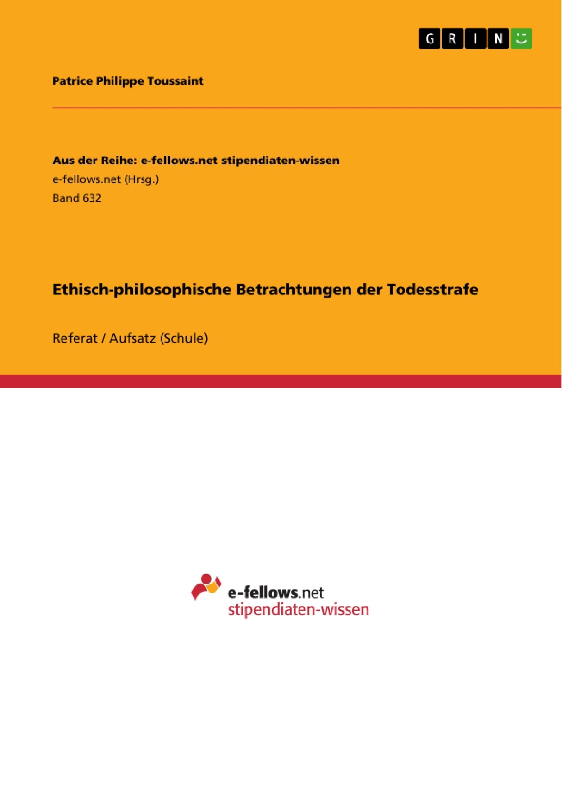 philosophisches essay todesstrafe