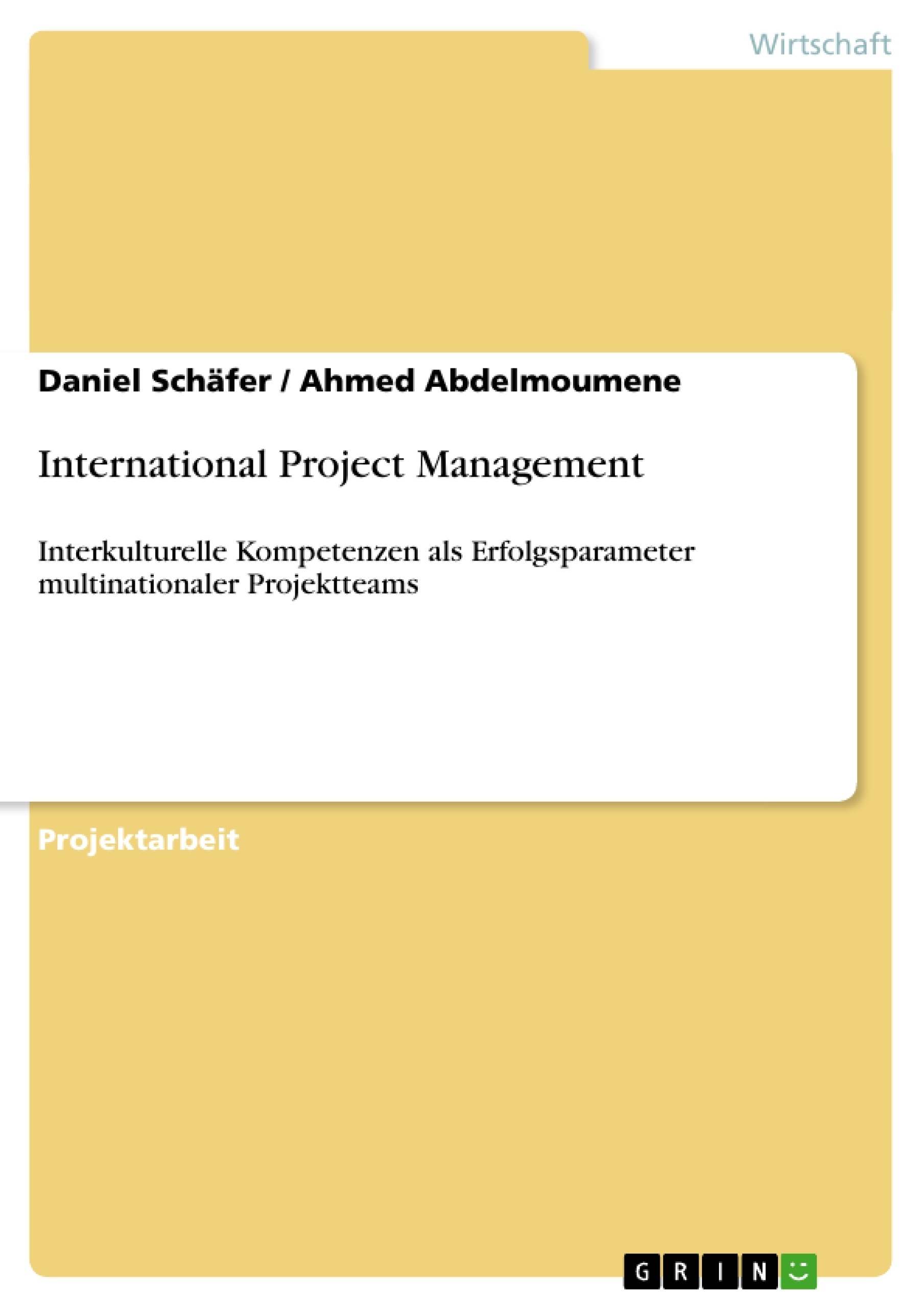 Titel: International Project Management