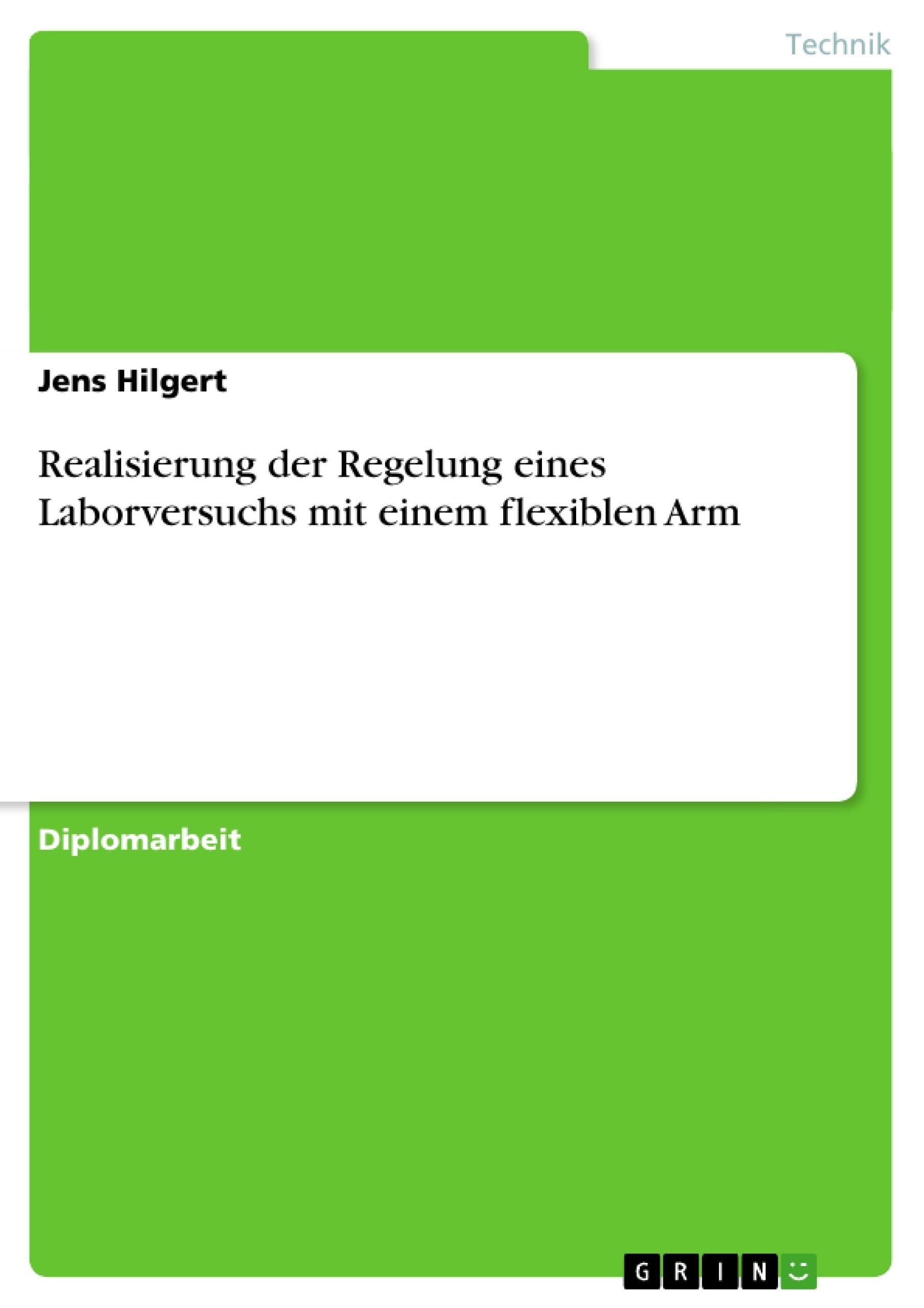 Titel: Realisierung der Regelung eines Laborversuchs mit einem flexiblen Arm