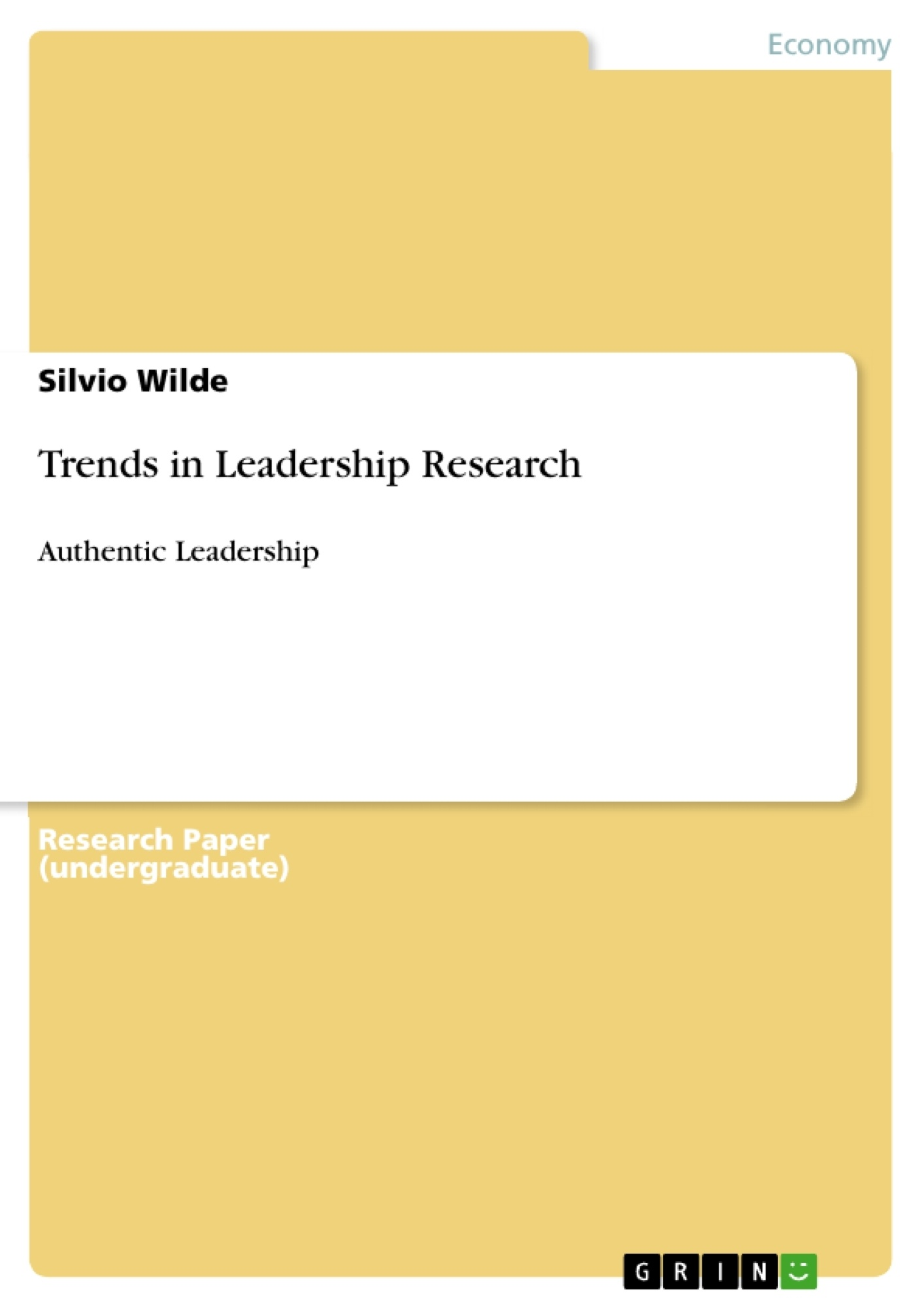 Title: Trends in Leadership Research