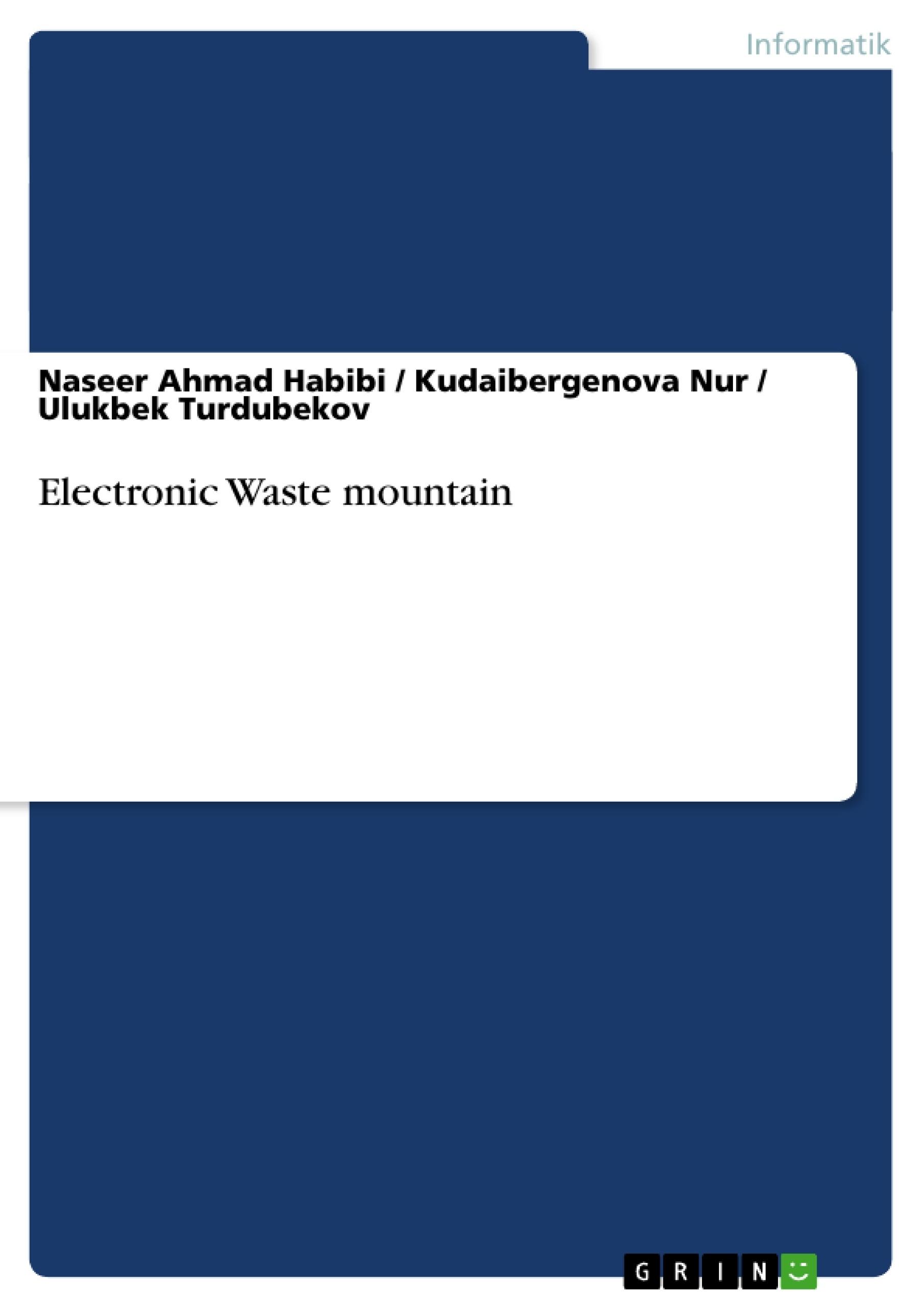Titel: Electronic Waste mountain
