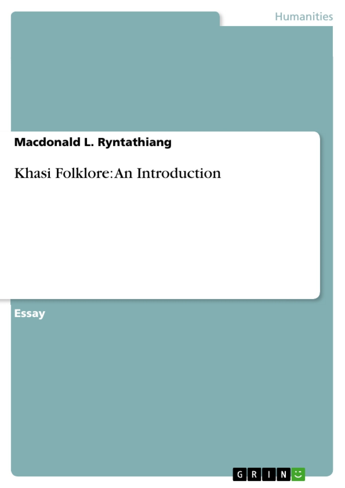 Title: Khasi Folklore: An Introduction