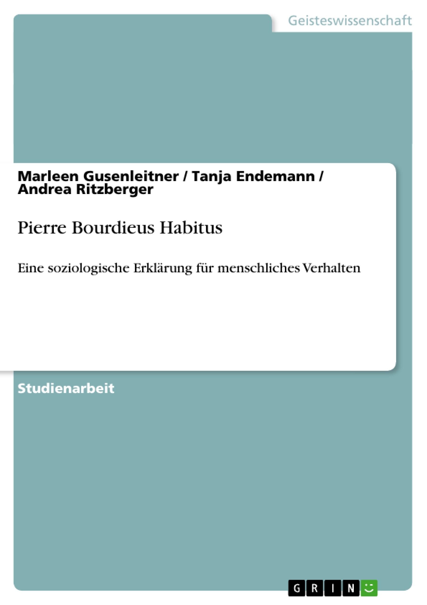 Titel: Pierre Bourdieus Habitus