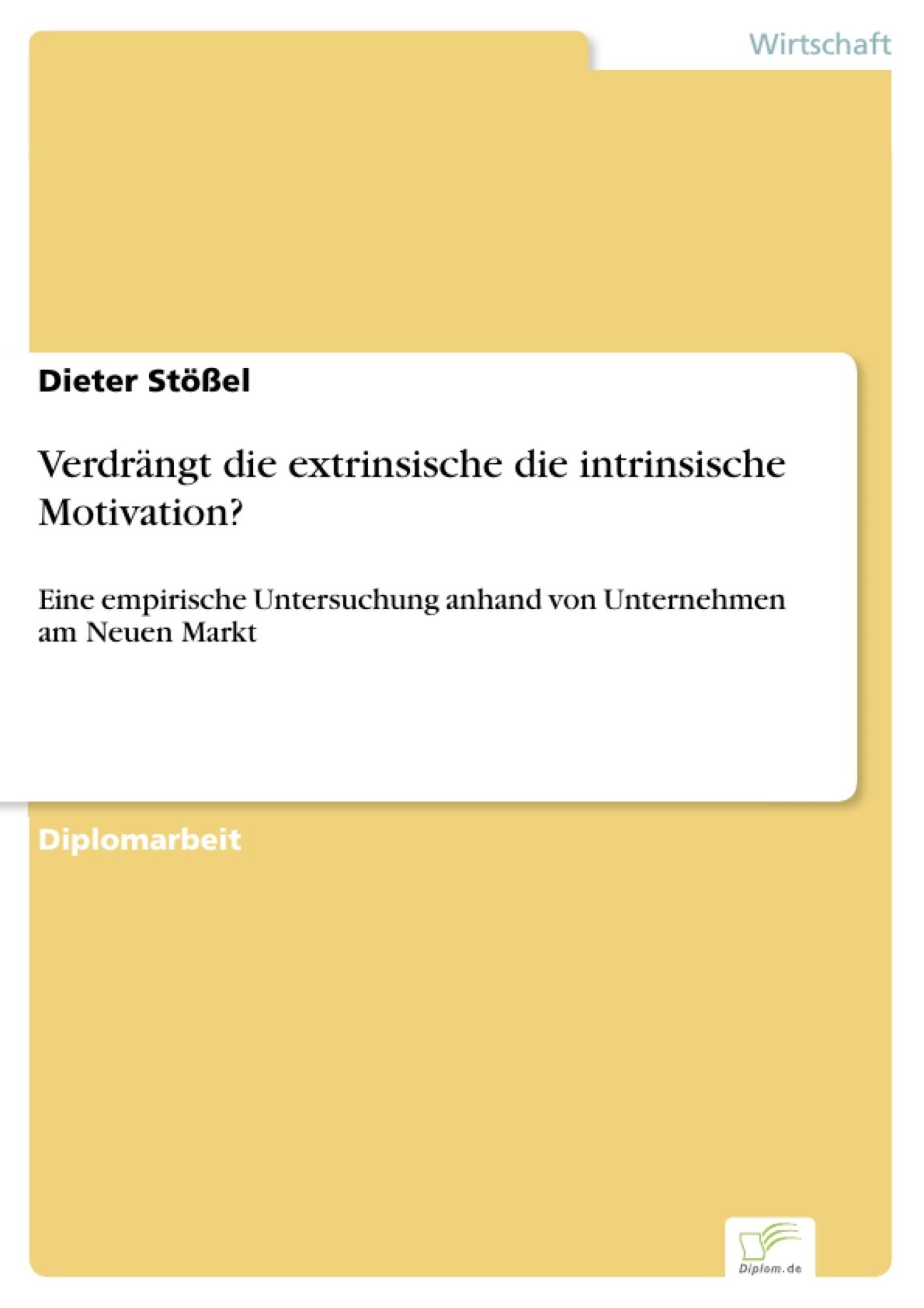 extrinsisch motiviert