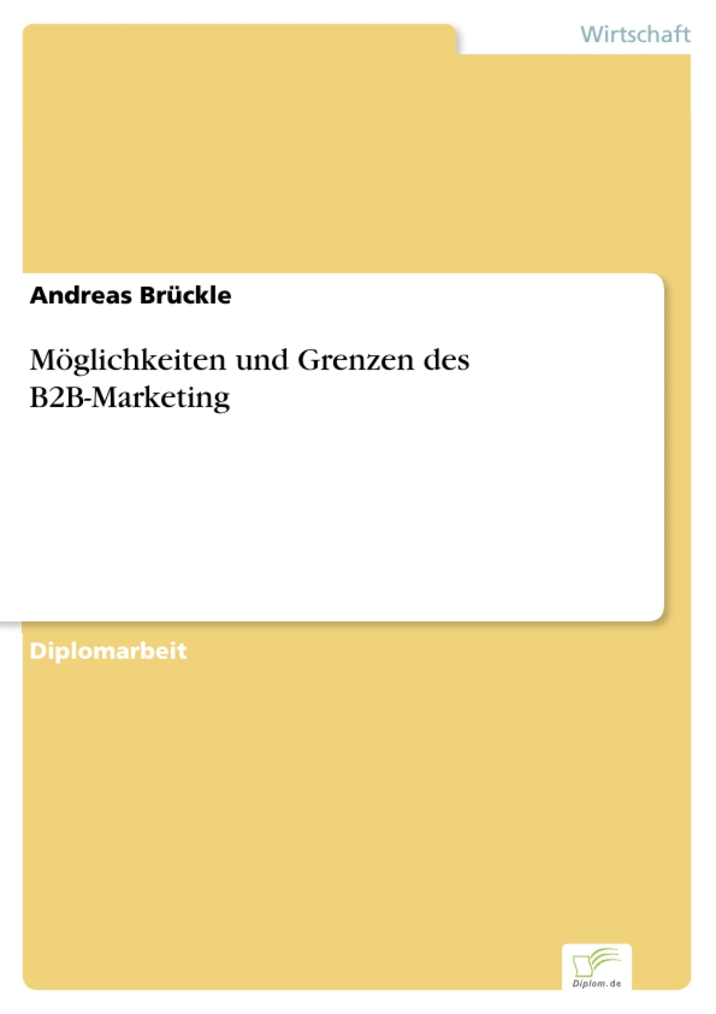Bachelorarbeit online marketing b2b grammatik englische