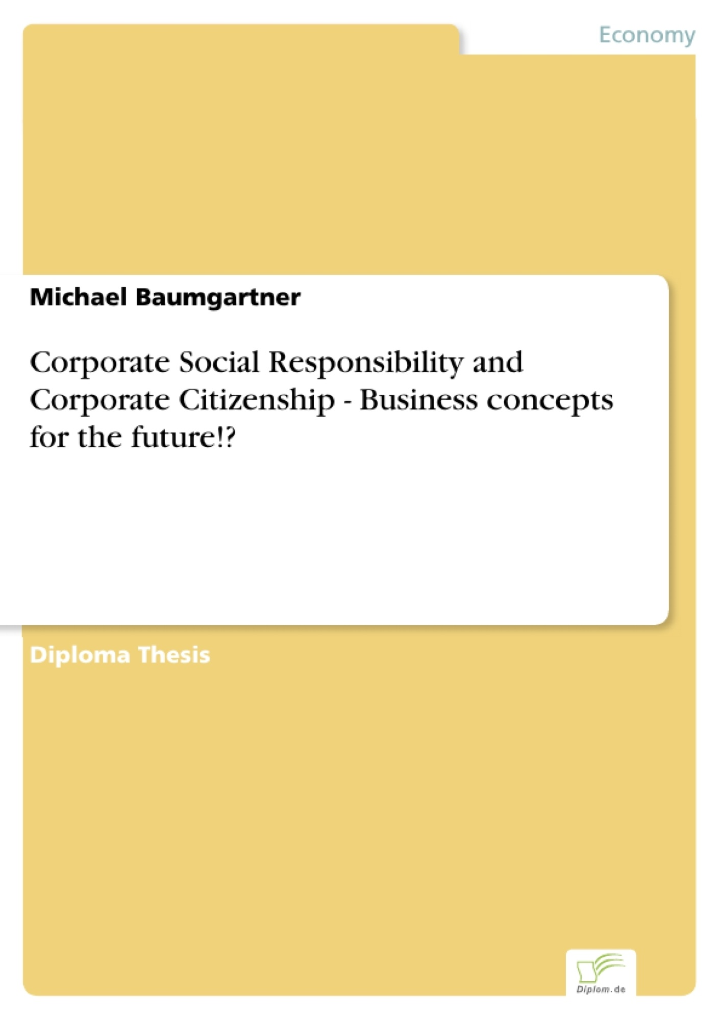 Corporate Social Responsibility and Corporate Citizenship - ...