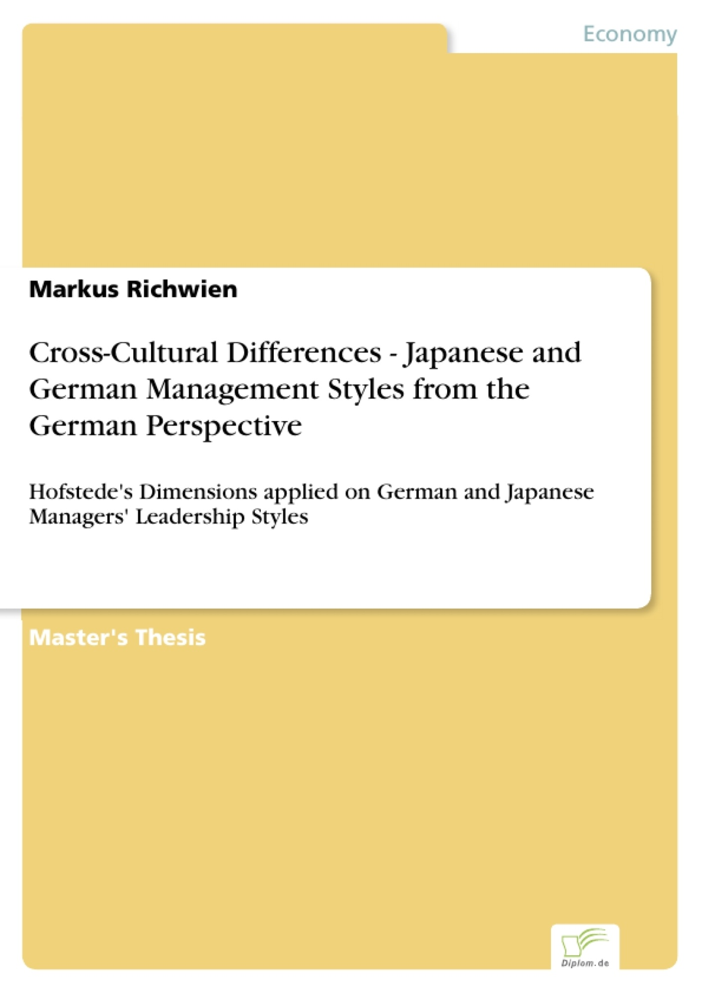Cross cultural differences japanese and german management styles leseprobe aus 135 seiten fandeluxe Gallery