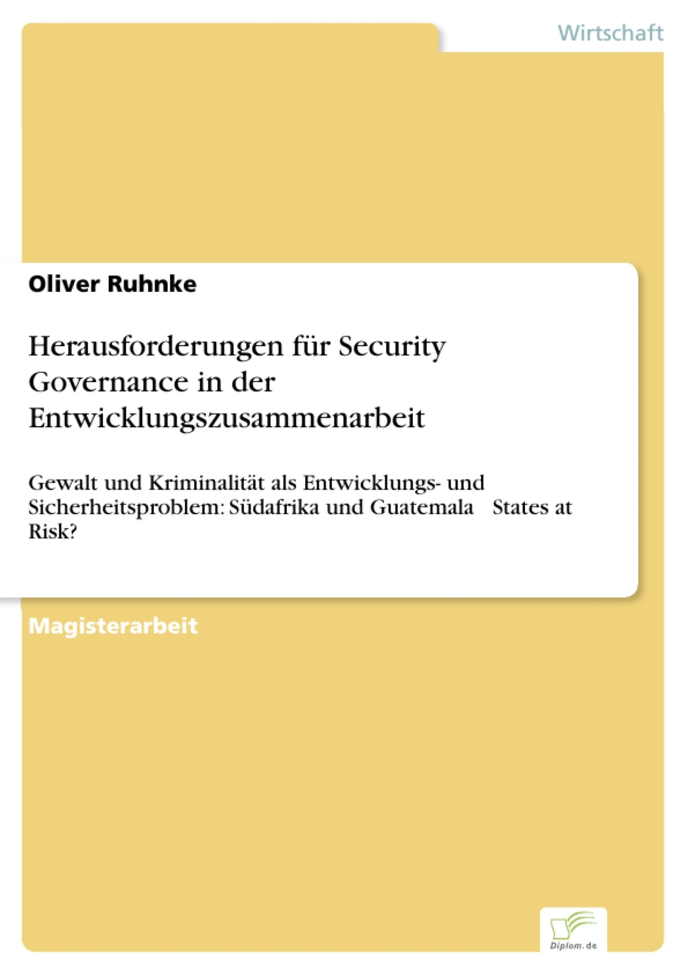 Herausforderungen für Security Governance in der ...