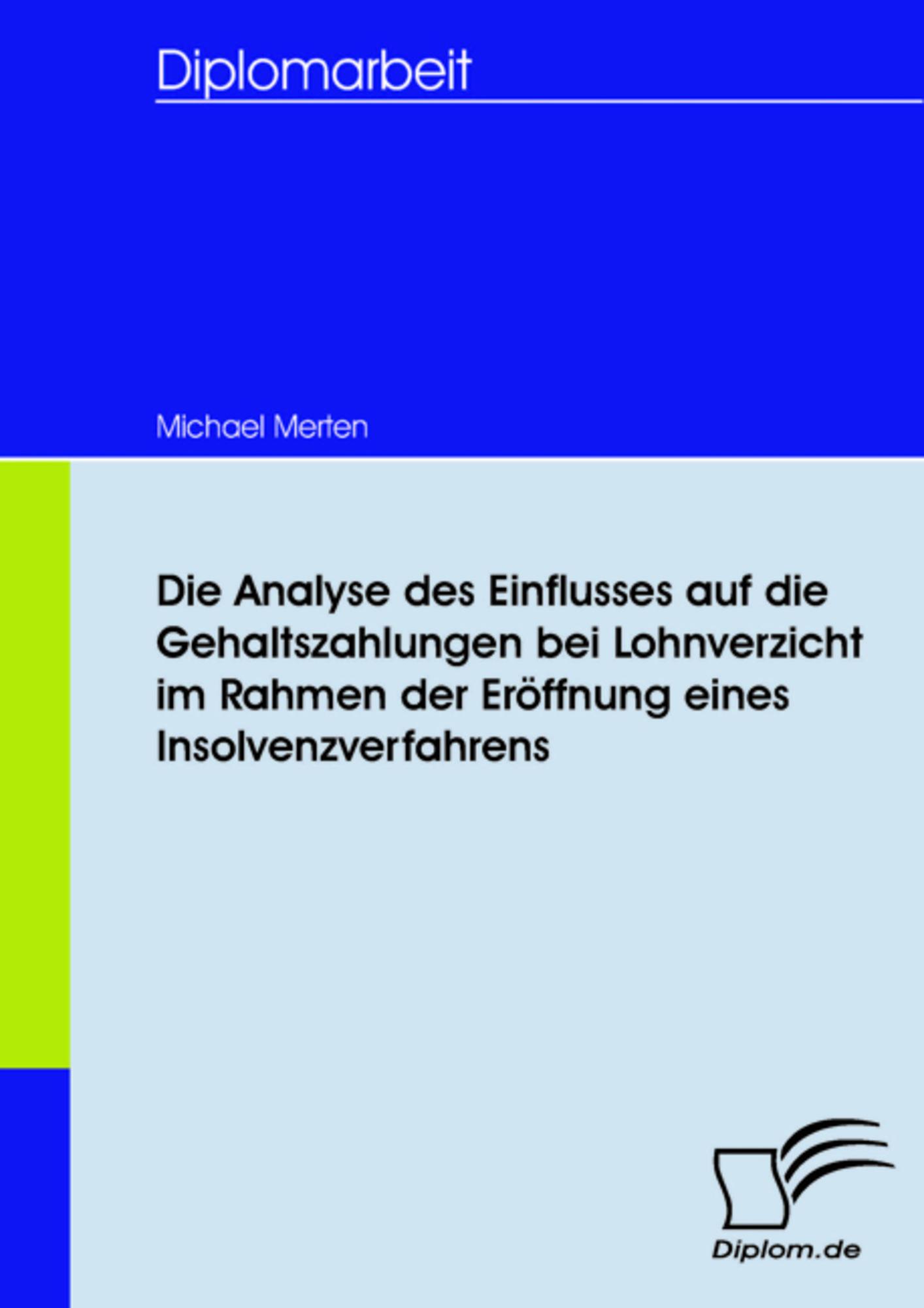 Die Analyse des Einflusses auf die Gehaltszahlungen bei ...