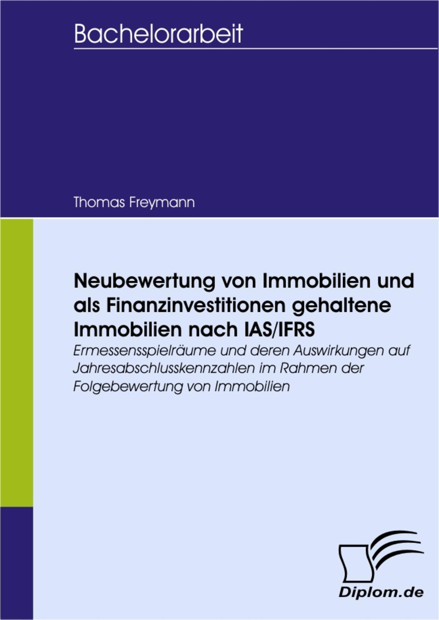 Neubewertung von Immobilien und als Finanzinvestitionen gehaltene ...