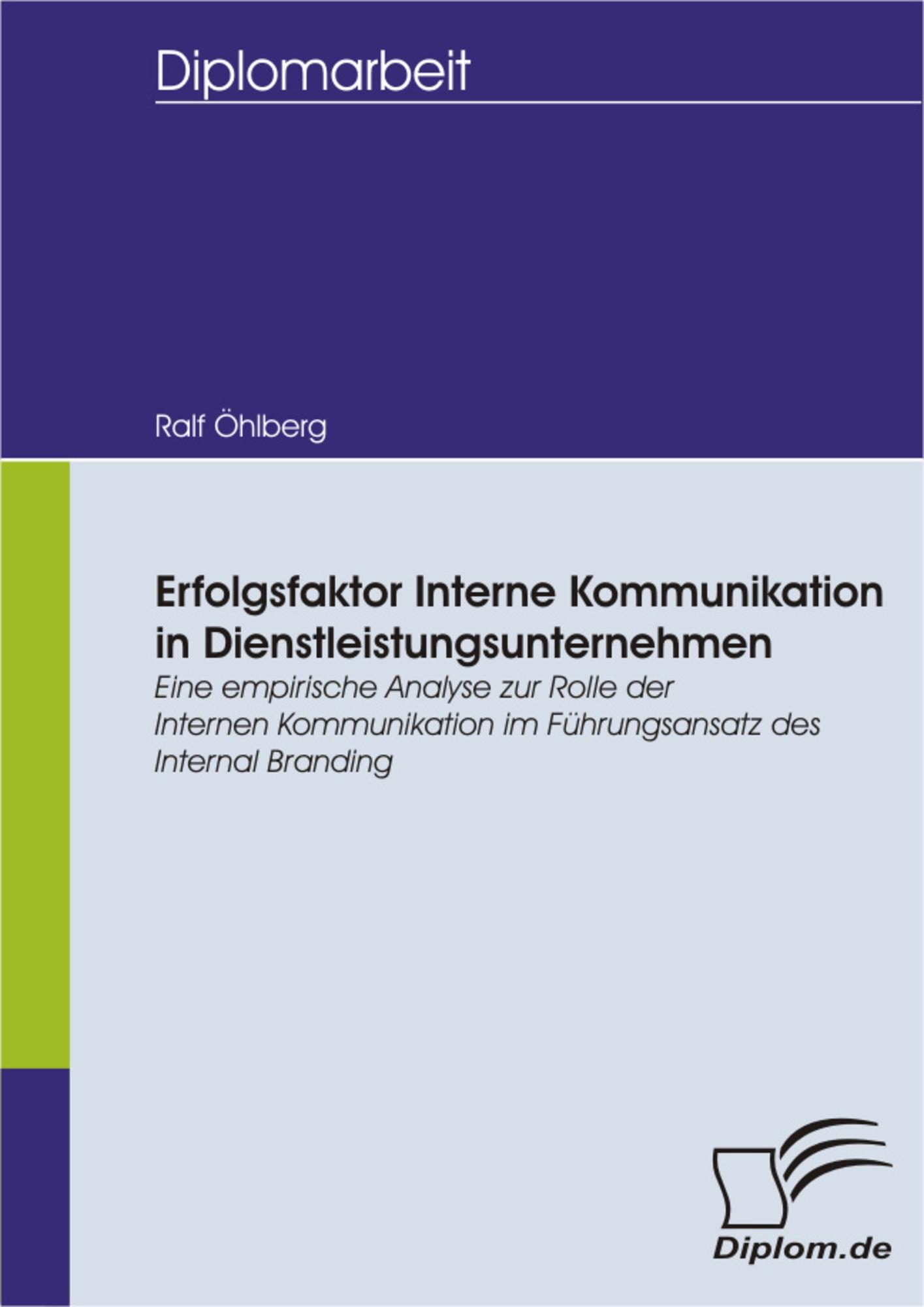 Erfolgsfaktor Interne Kommunikation in Dienstleistungsunternehmen