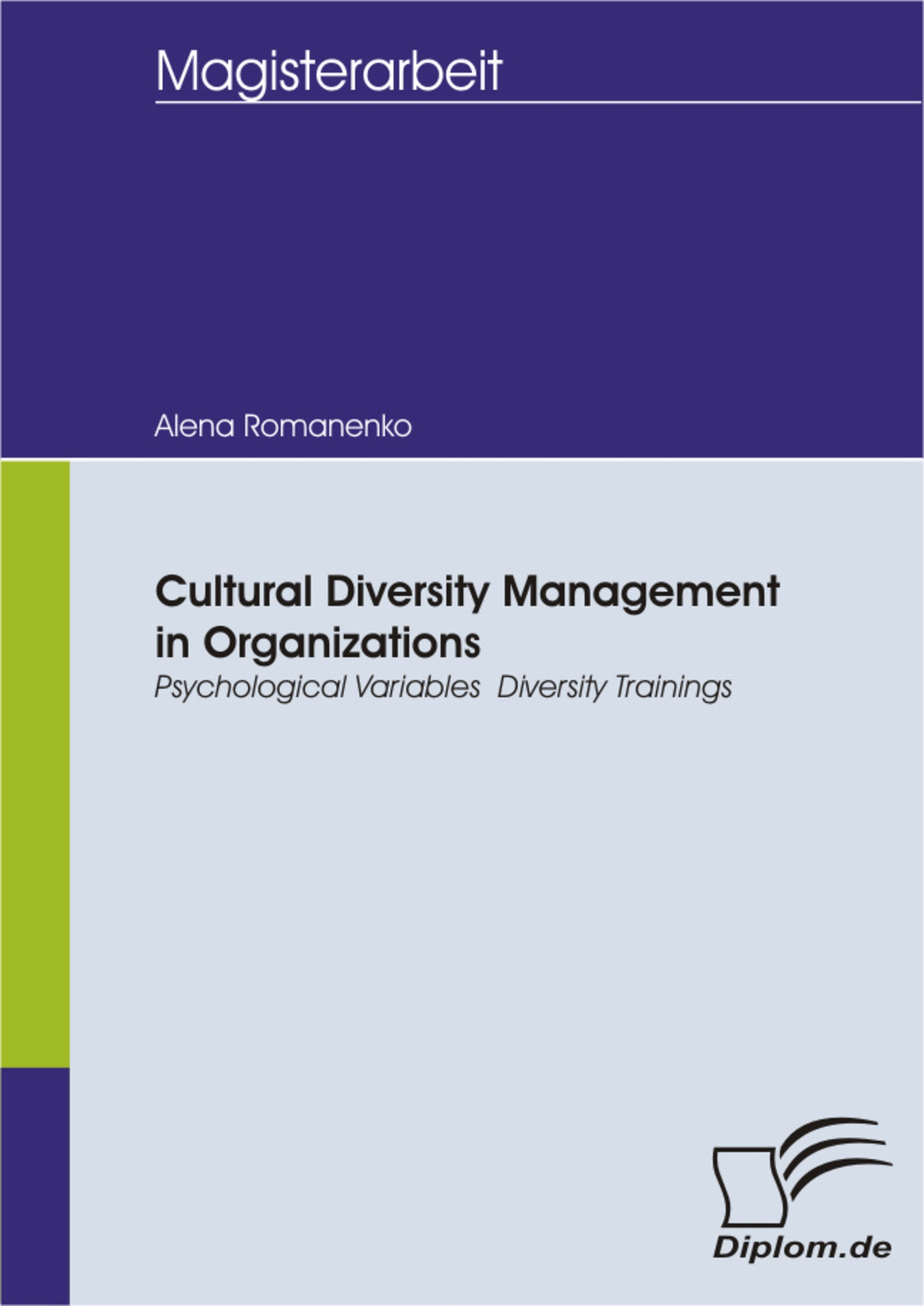 Cultural Diversity Management in Organizations